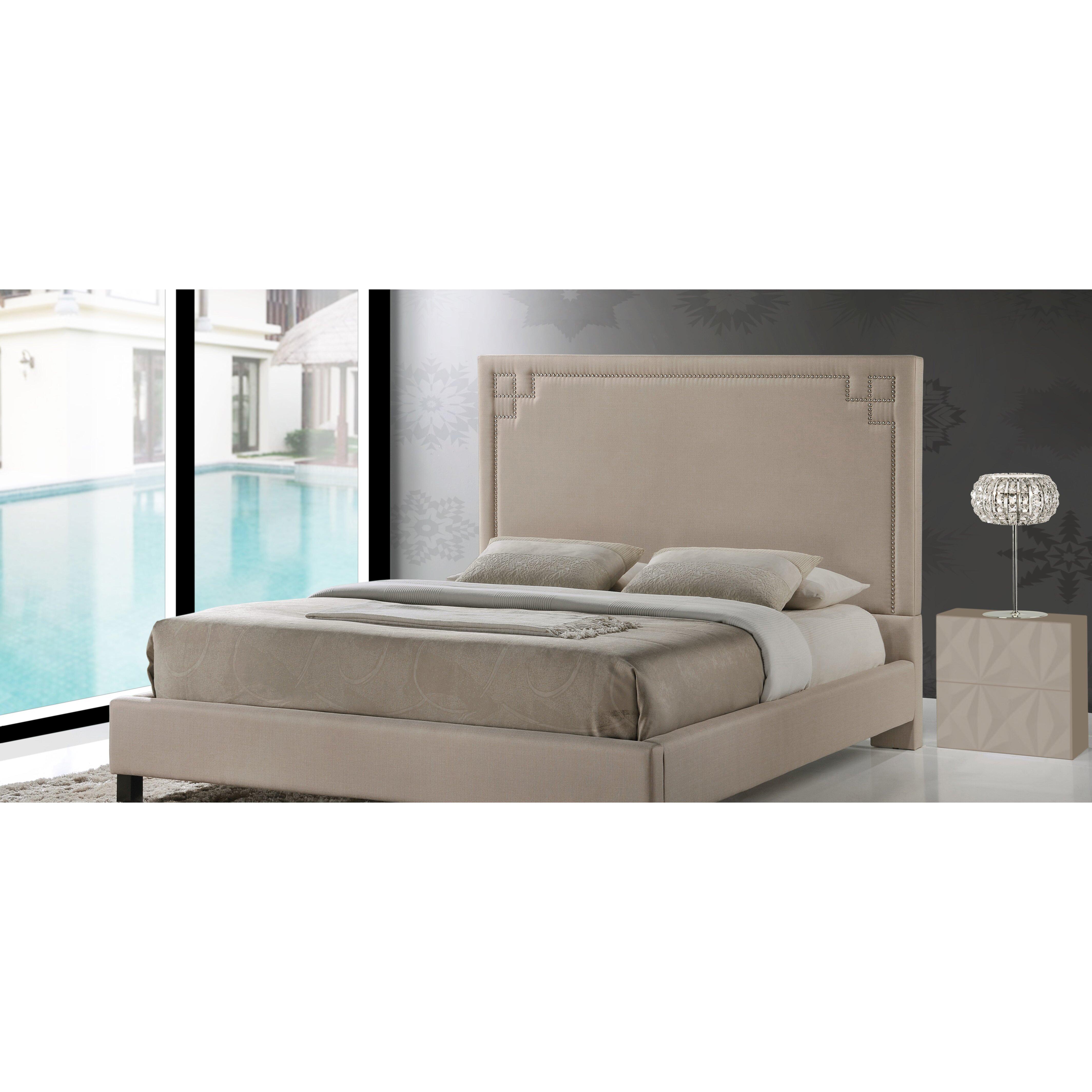 Wholesale Interiors Baxton Studio Colchester Upholstered Platform Bed