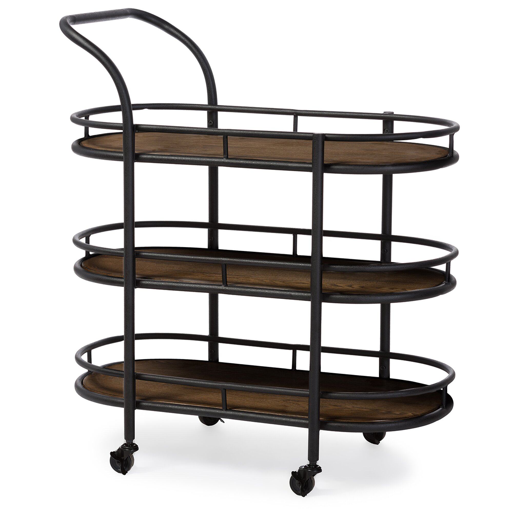Industrial Kitchen Cart Bar Cart Serving Cart: Wholesale Interiors Baxton Studio Karlin Serving Cart