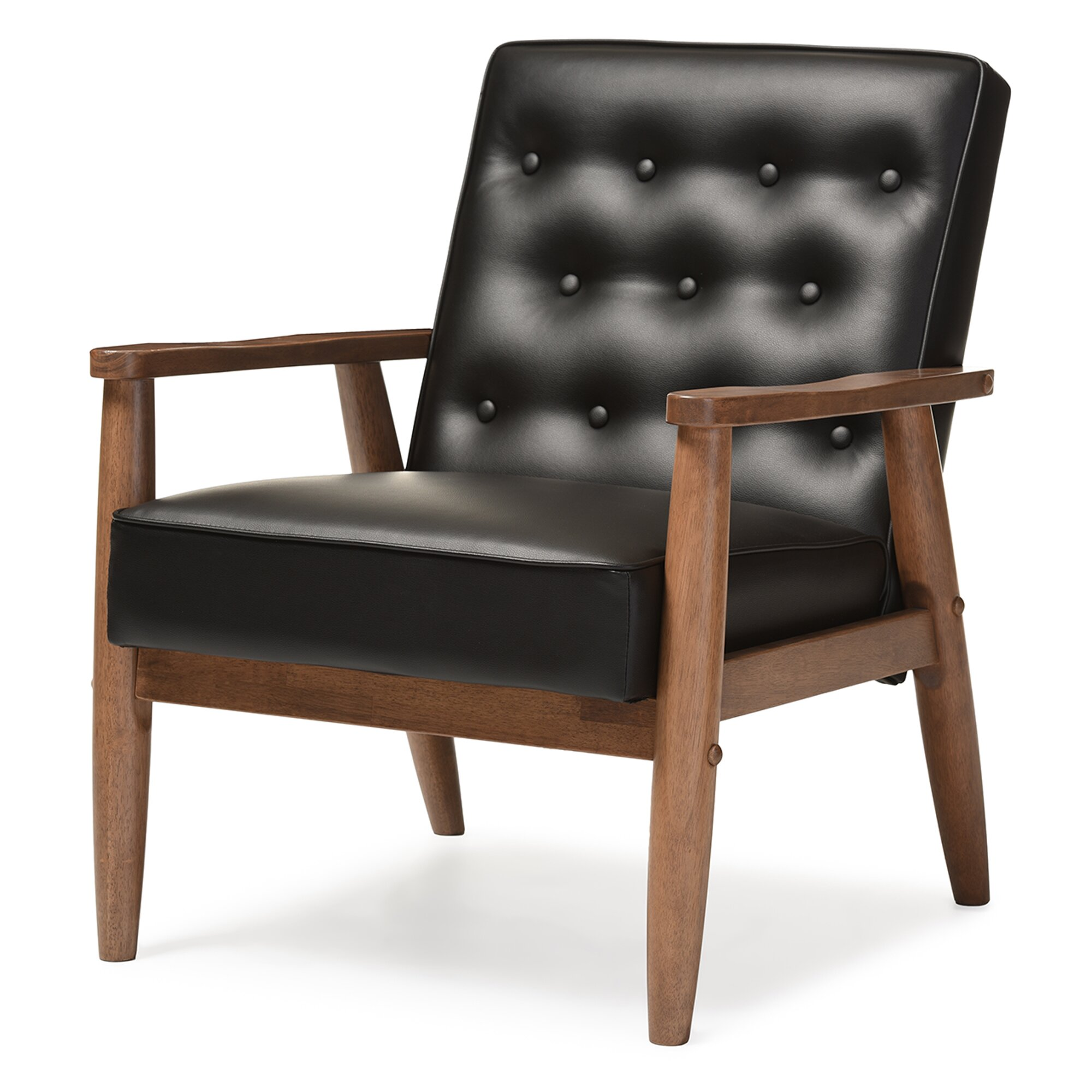 Wholesale interiors baxton studio lounge chair reviews for Cheap leather chairs