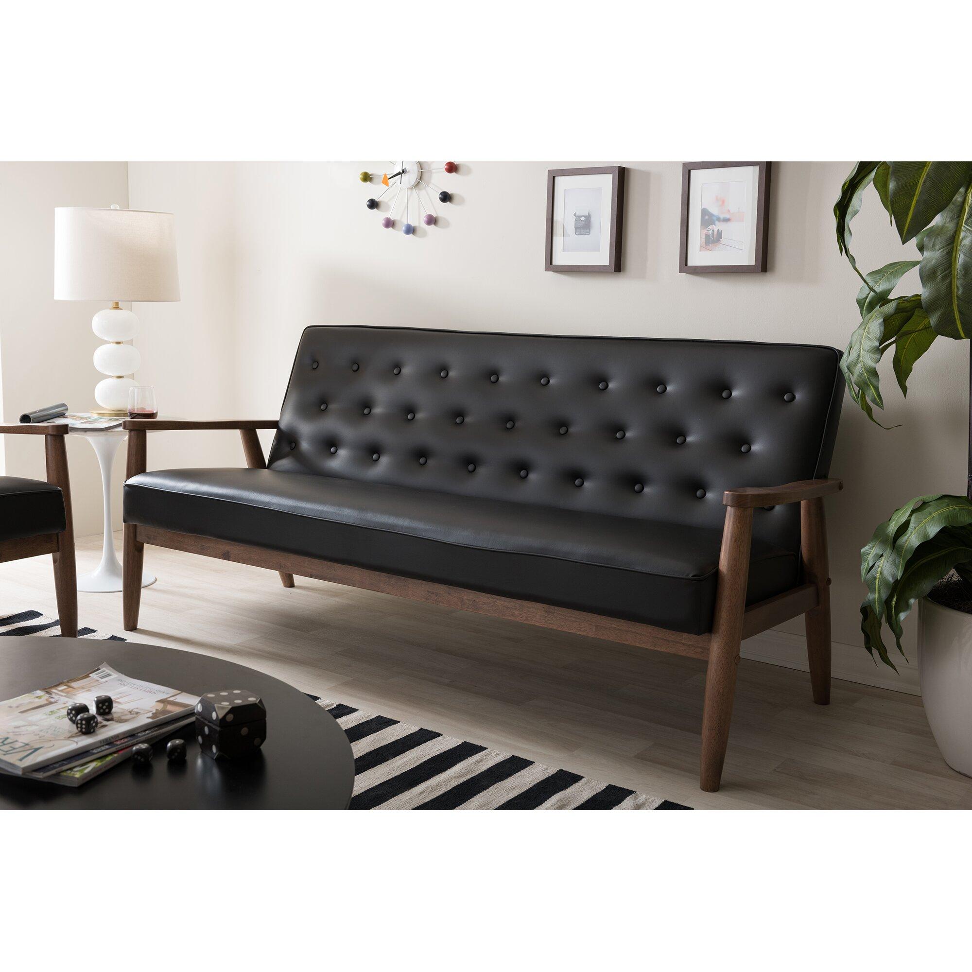 Wholesale interiors baxton studio sofa reviews wayfair for Baxton studio