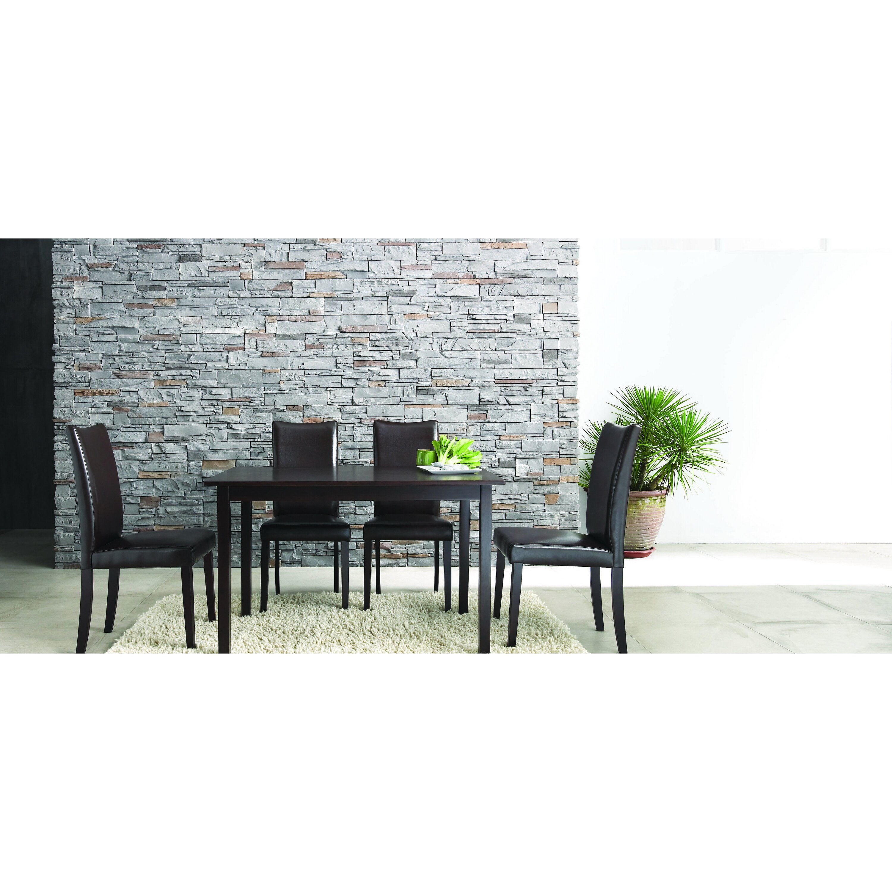 Table And Chair Sets Dinette Depot Images Eastindieshome  : Baxton Studio Berreman Dark Brown 5 Piece Modern Dining Set from favefaves.com size 3000 x 3000 jpeg 1336kB