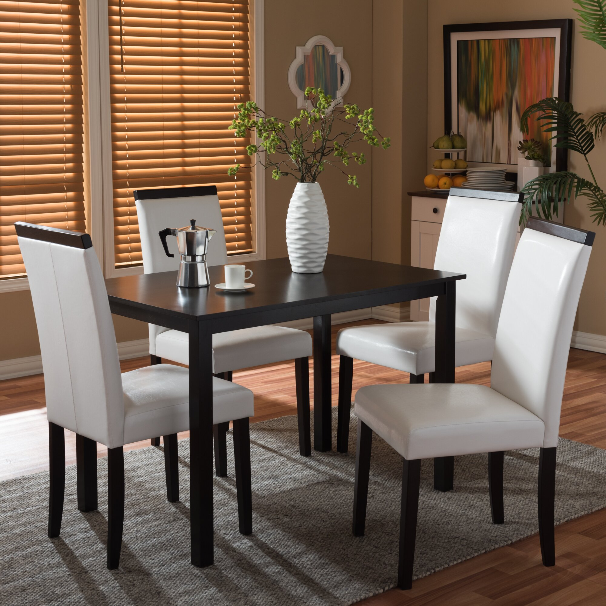 wholesale interiors baxton studio milano 5 piece dining