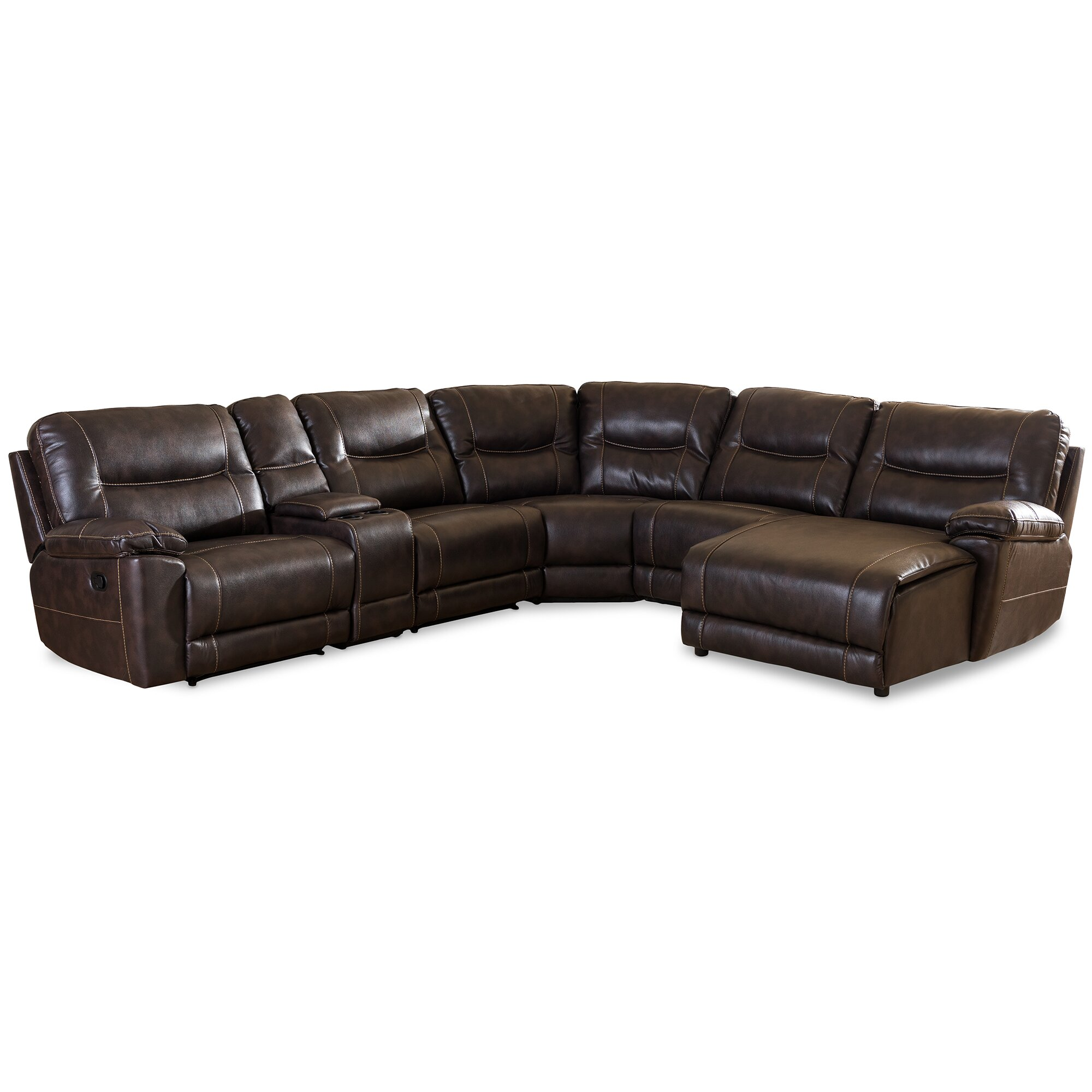 Contemporary Sectional: Wholesale Interiors Baxton Studio Sectional