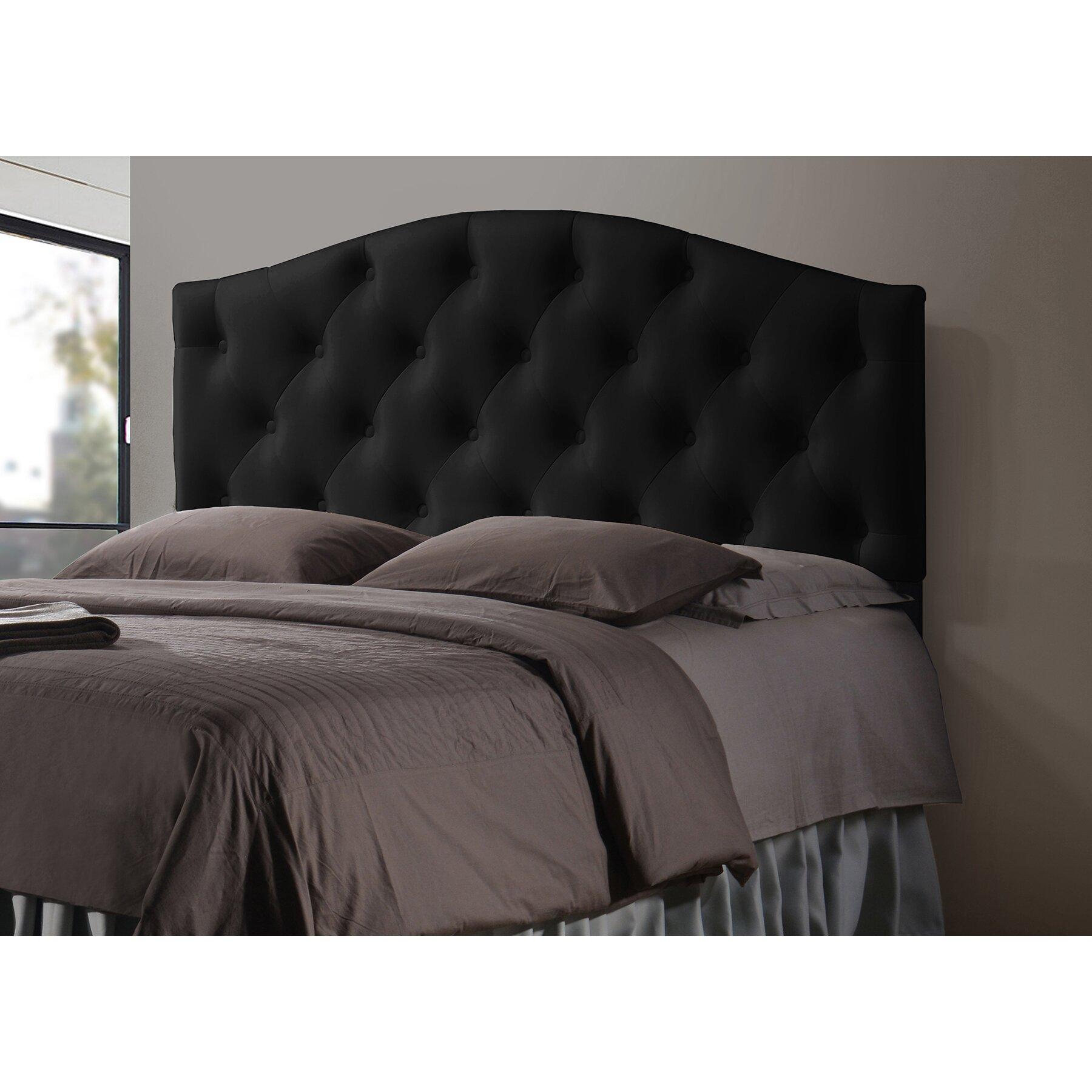 Wholesale interiors baxton studio myra full size black for Full headboard