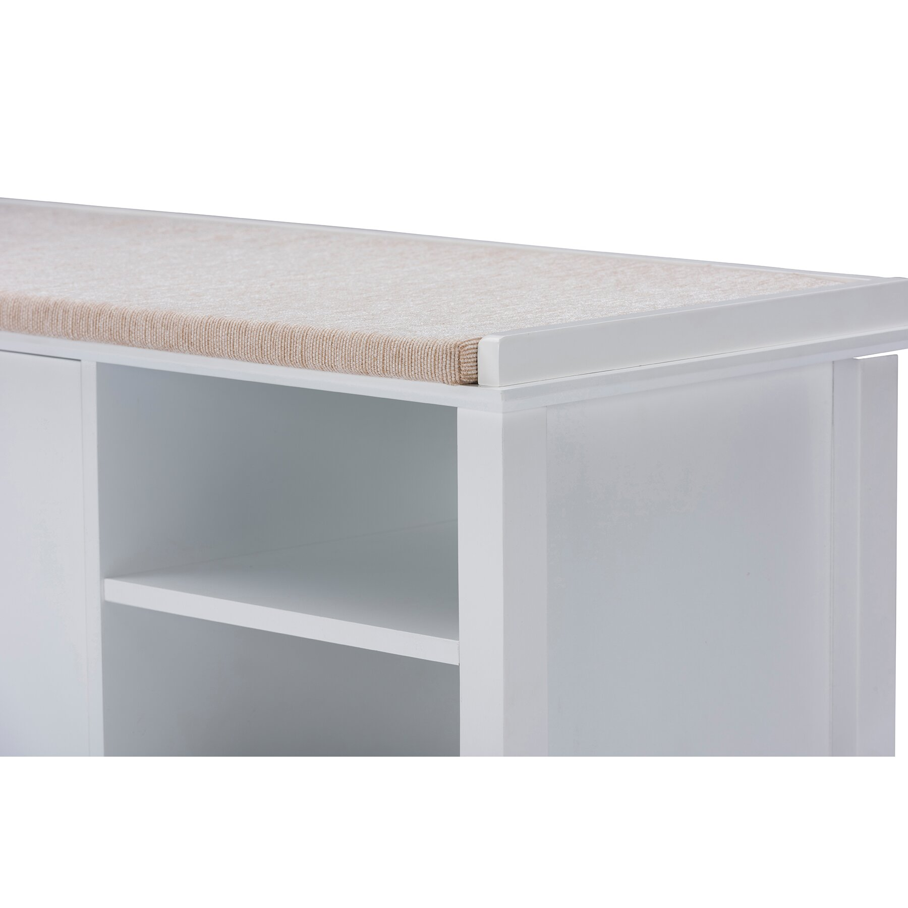 Wholesale Interiors Baxton Studio Swiss Modern And Contemporary White Wooden Shoe Storage