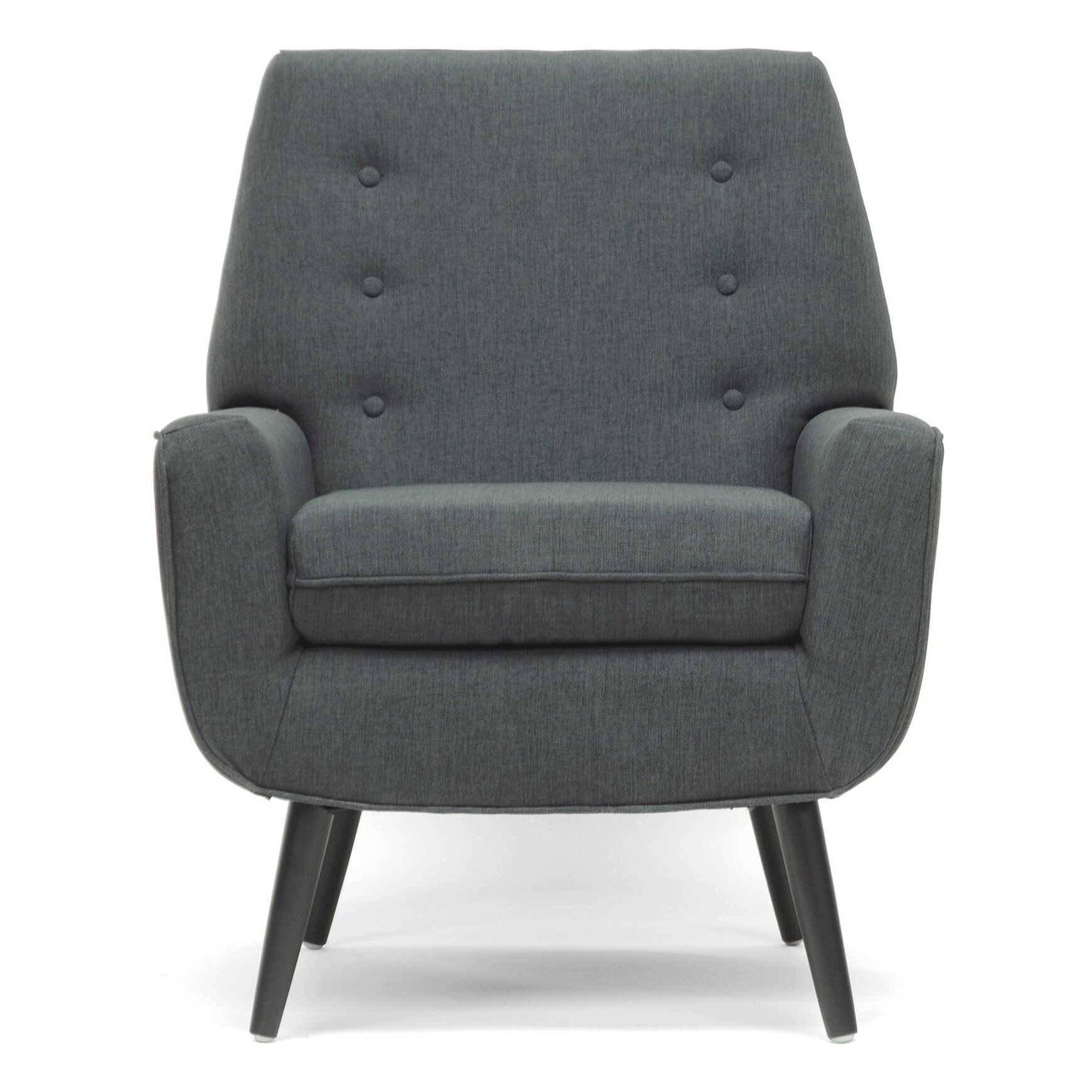 Wholesale interiors baxton studio levison modern arm chair for Modern arm chair