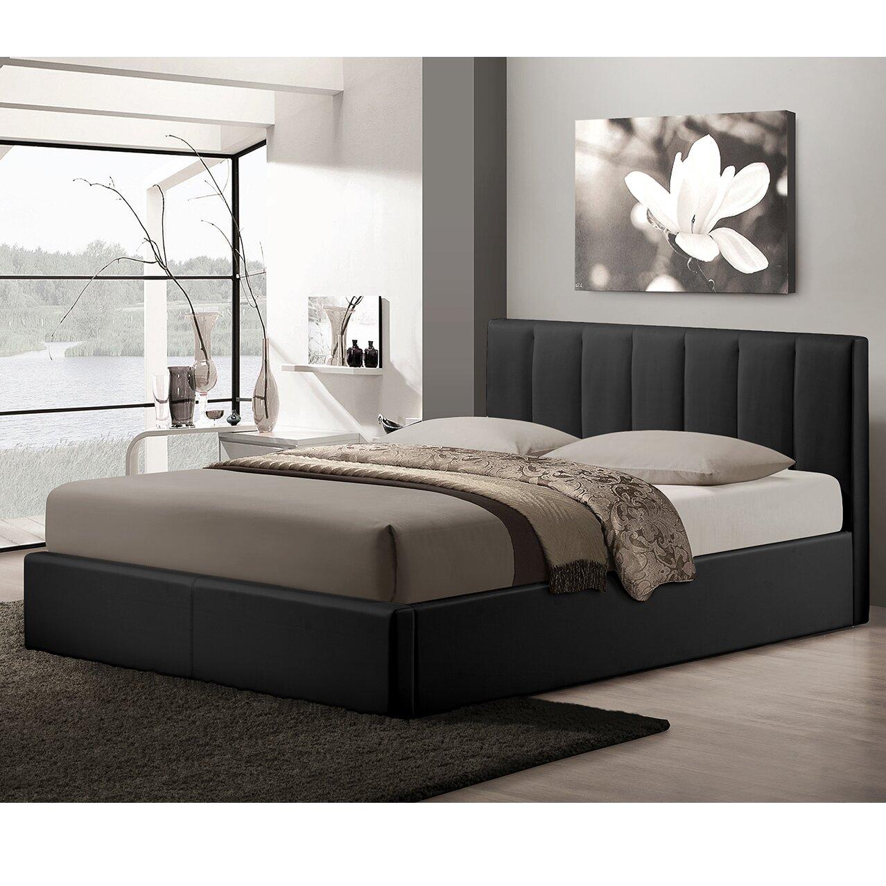 Wholesale Interiors Baxton Studio Queen Upholstered Storage Platform Bed Reviews