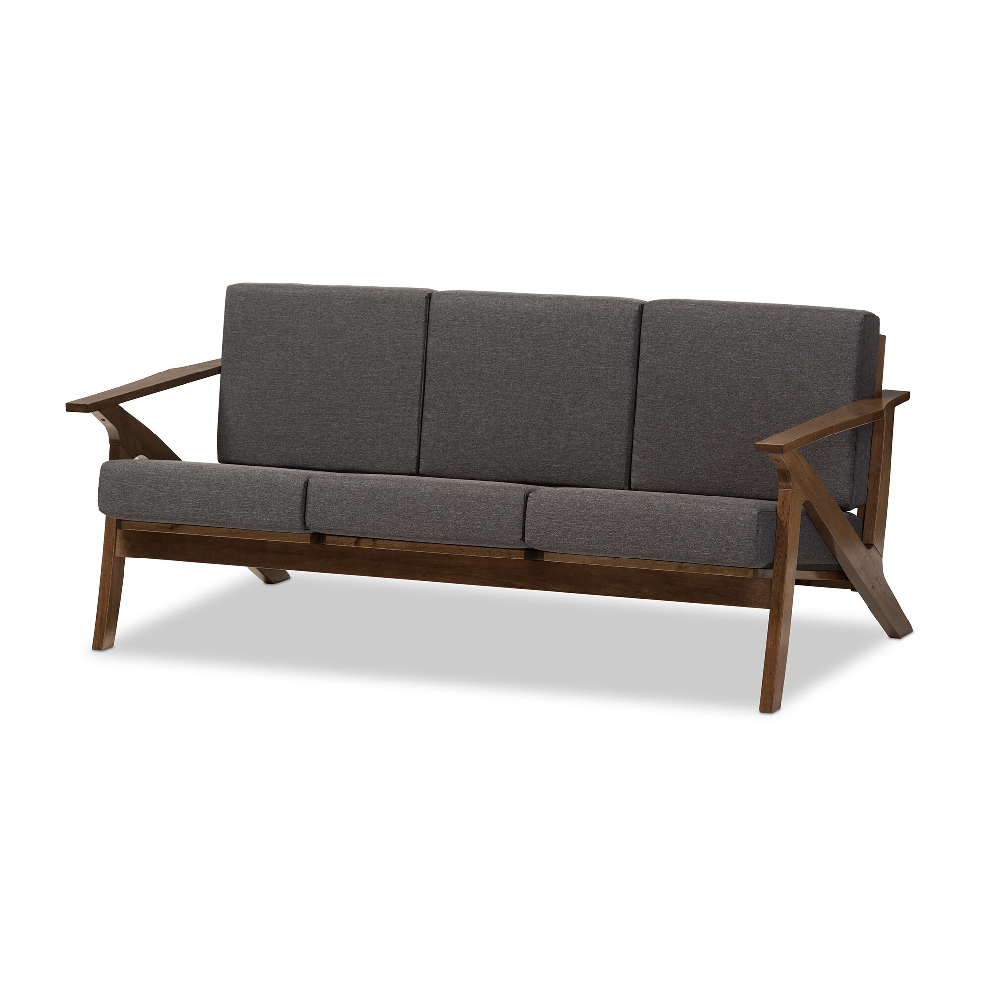 Wholesale interiors baxton studio mid century modern sofa for Modern loveseat
