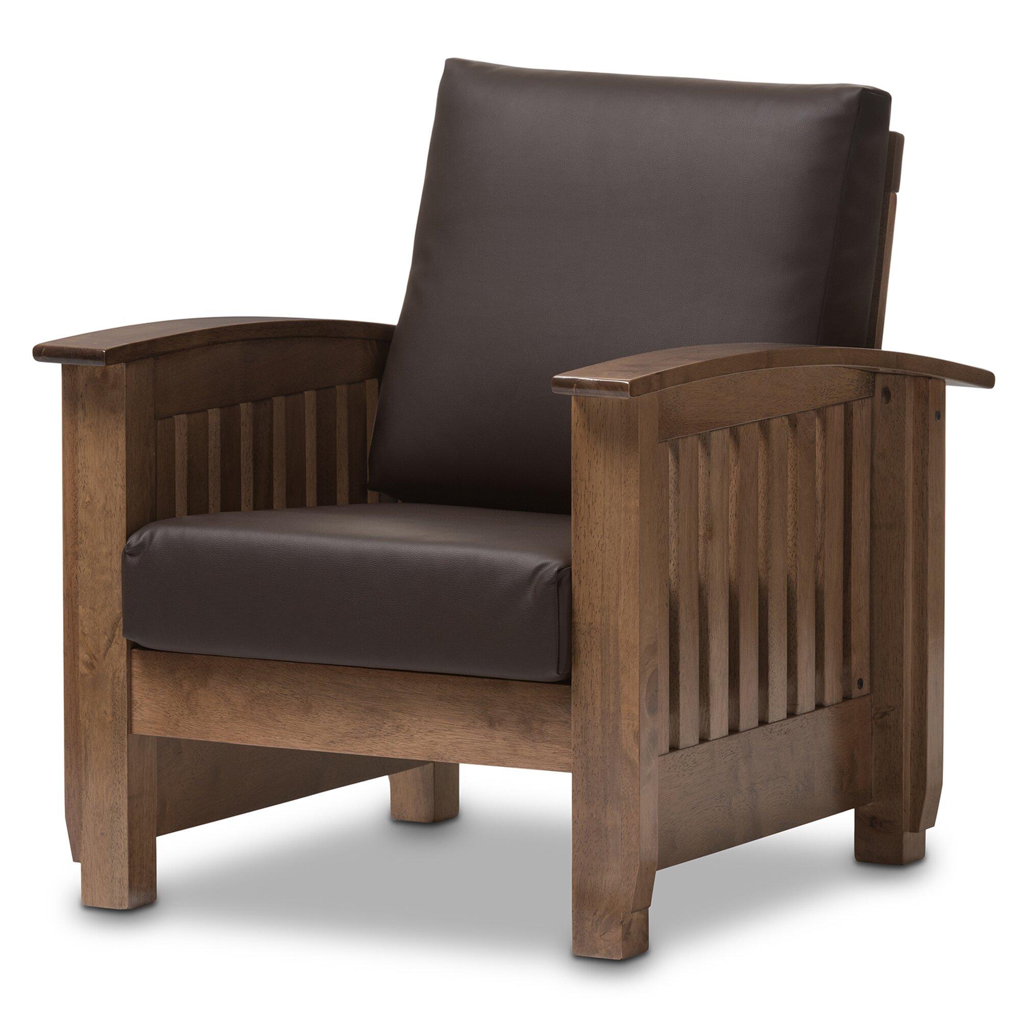 wholesale interiors baxton studio benigno faux leather arm chair baxton studio lounge chair
