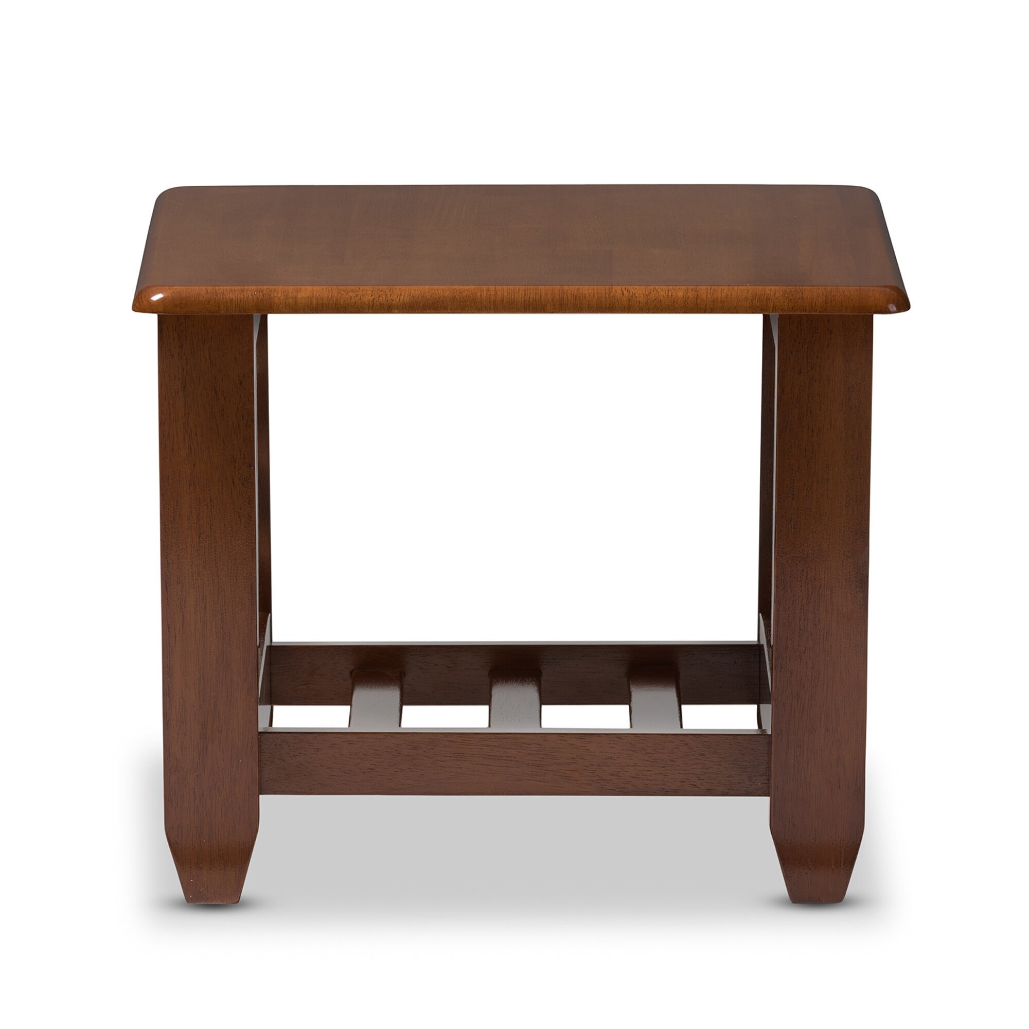 Wholesale interiors baxton studio end table reviews for Wood living room table