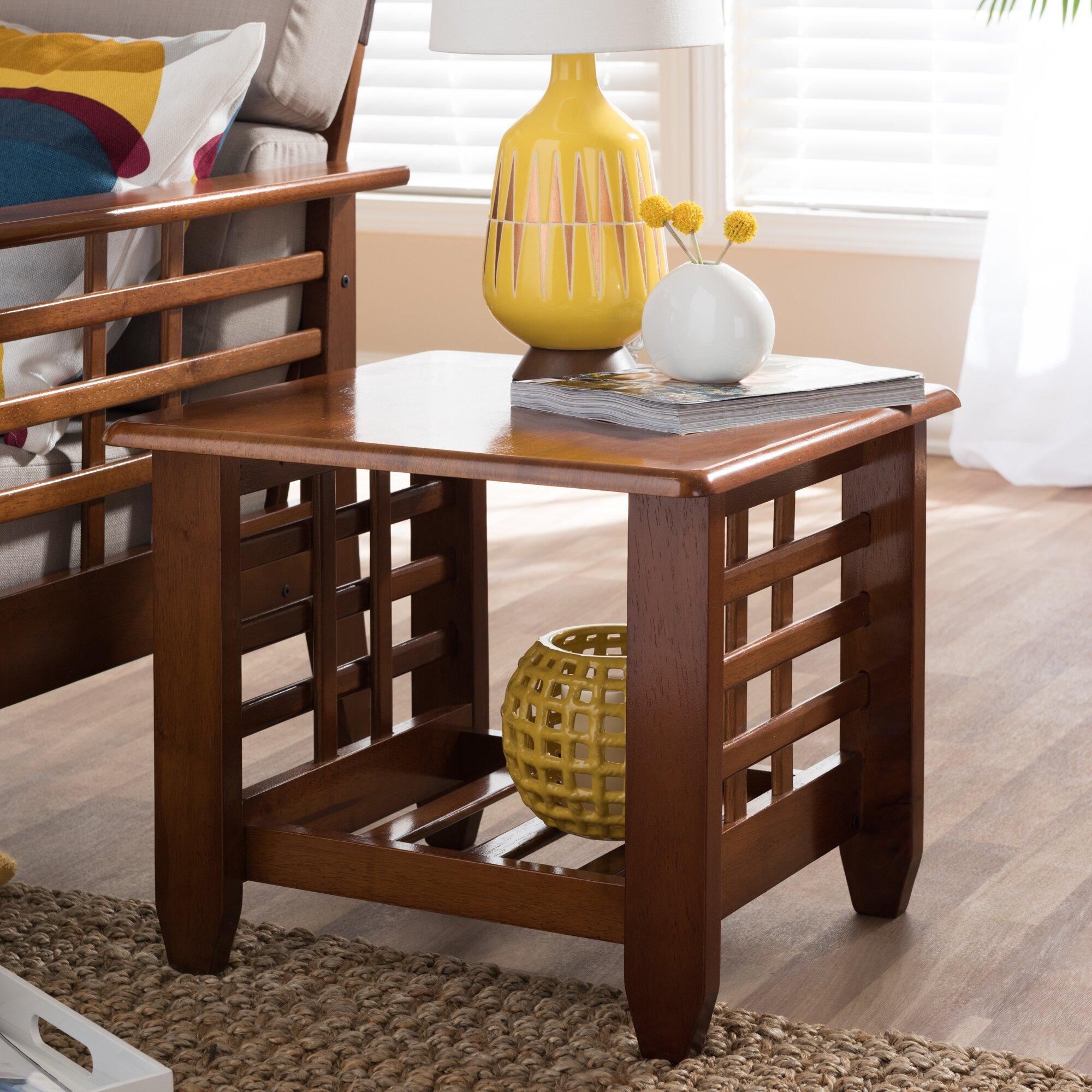 Wholesale Interiors Baxton Studio End Table & Reviews