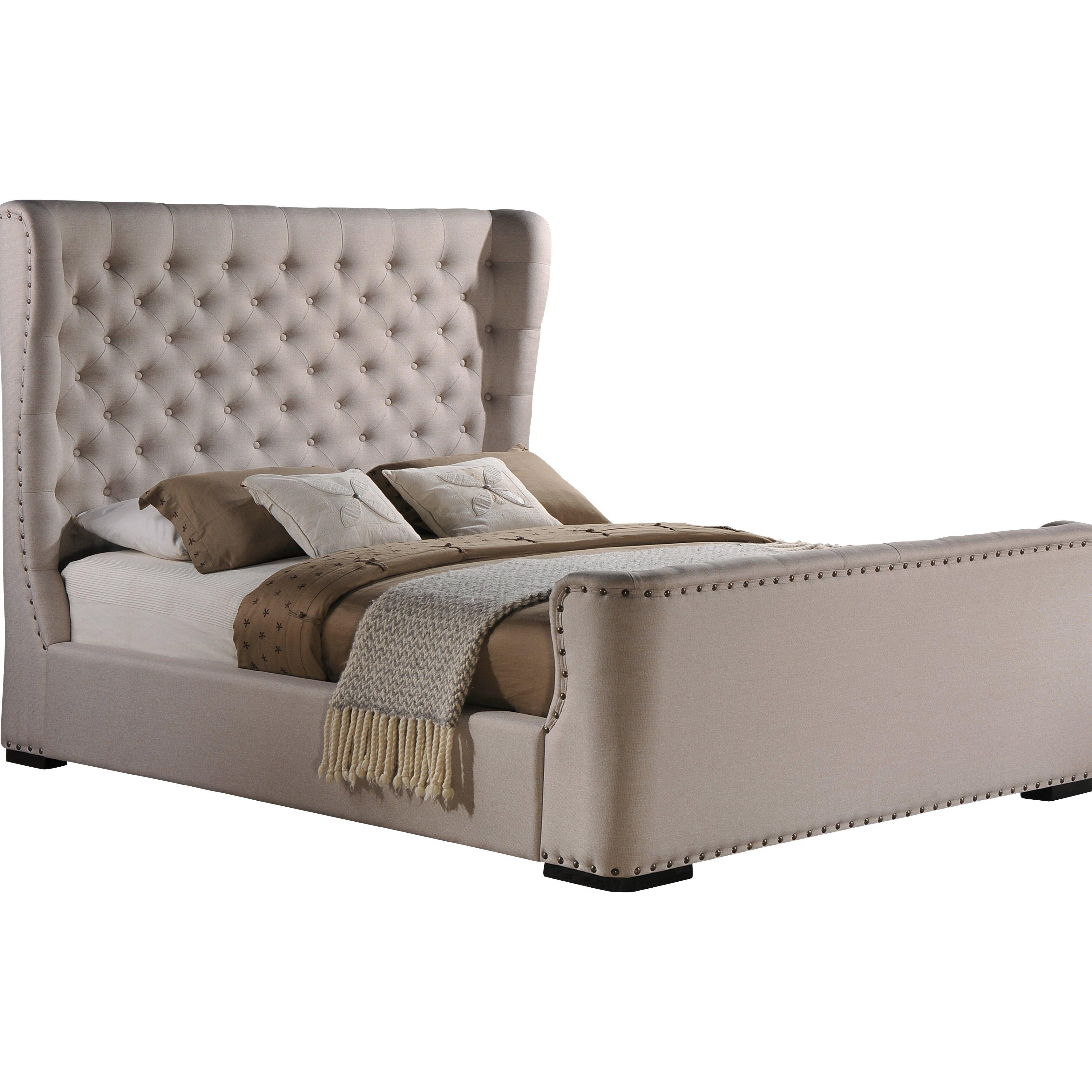 Wholesale Interiors Baxton Studio Queen Upholstered Platform Bed Reviews