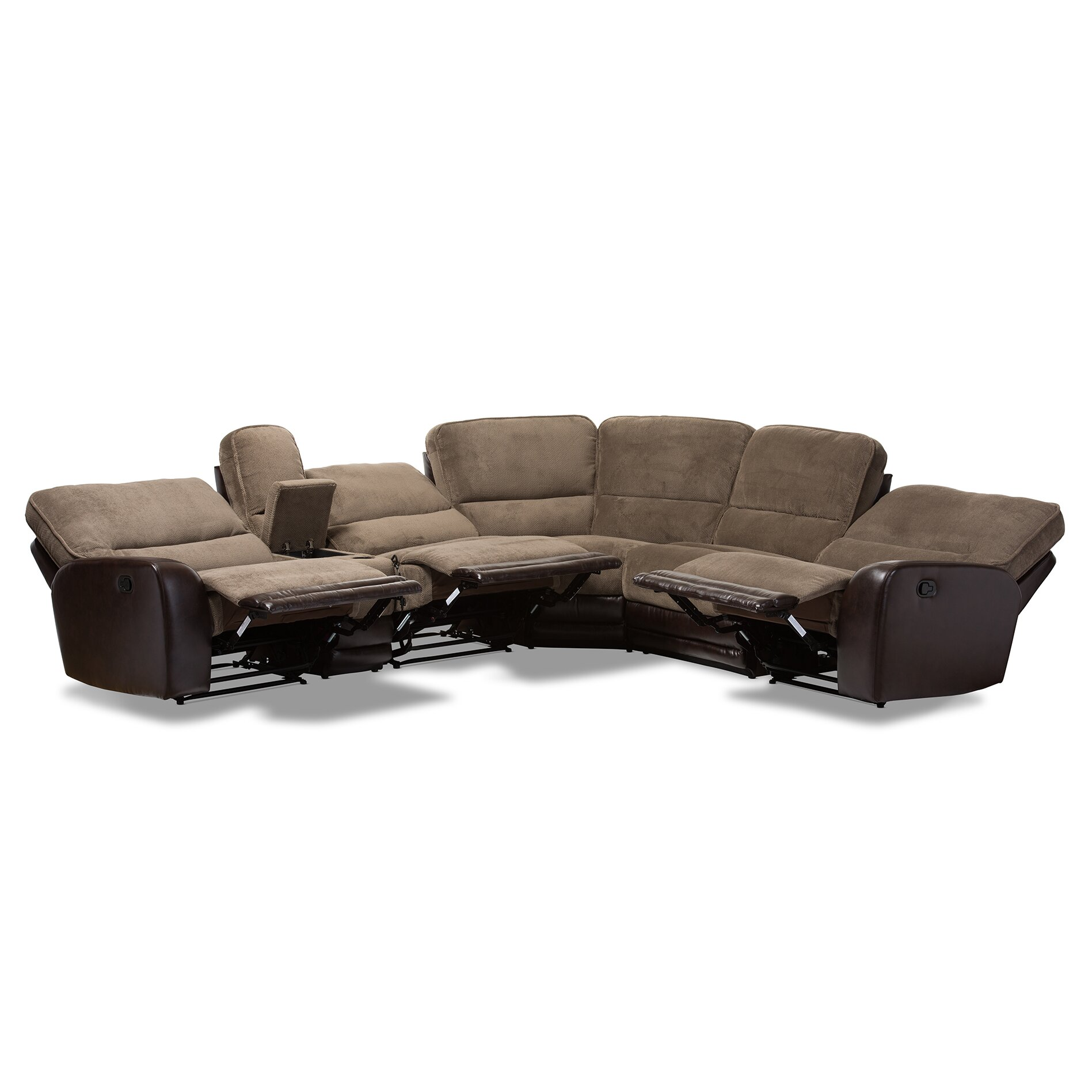 Wholesale Interiors Baxton Studio Sectional Wayfair : Baxton Studio Mia Modern and Contemporary Brown Towel Fabric and Brown Faux Leather Two tone 7 Piece Sectional Sofa 1421 7130 WF from www.wayfair.com size 1897 x 1897 jpeg 256kB
