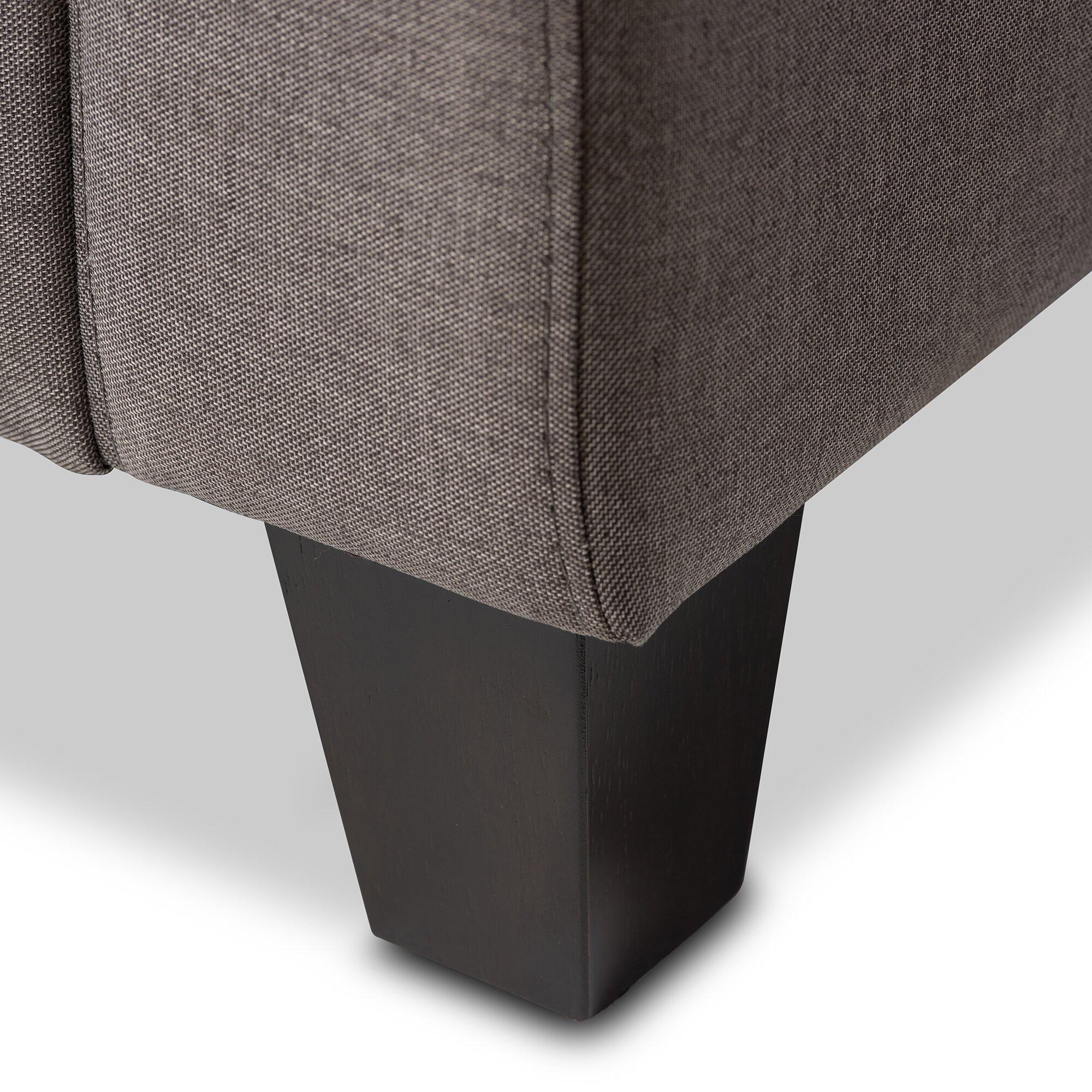 Baxton Studio Arcadia Modern And Contemporary Grey Fabric: Wholesale Interiors Baxton Studio Silvia Modern And
