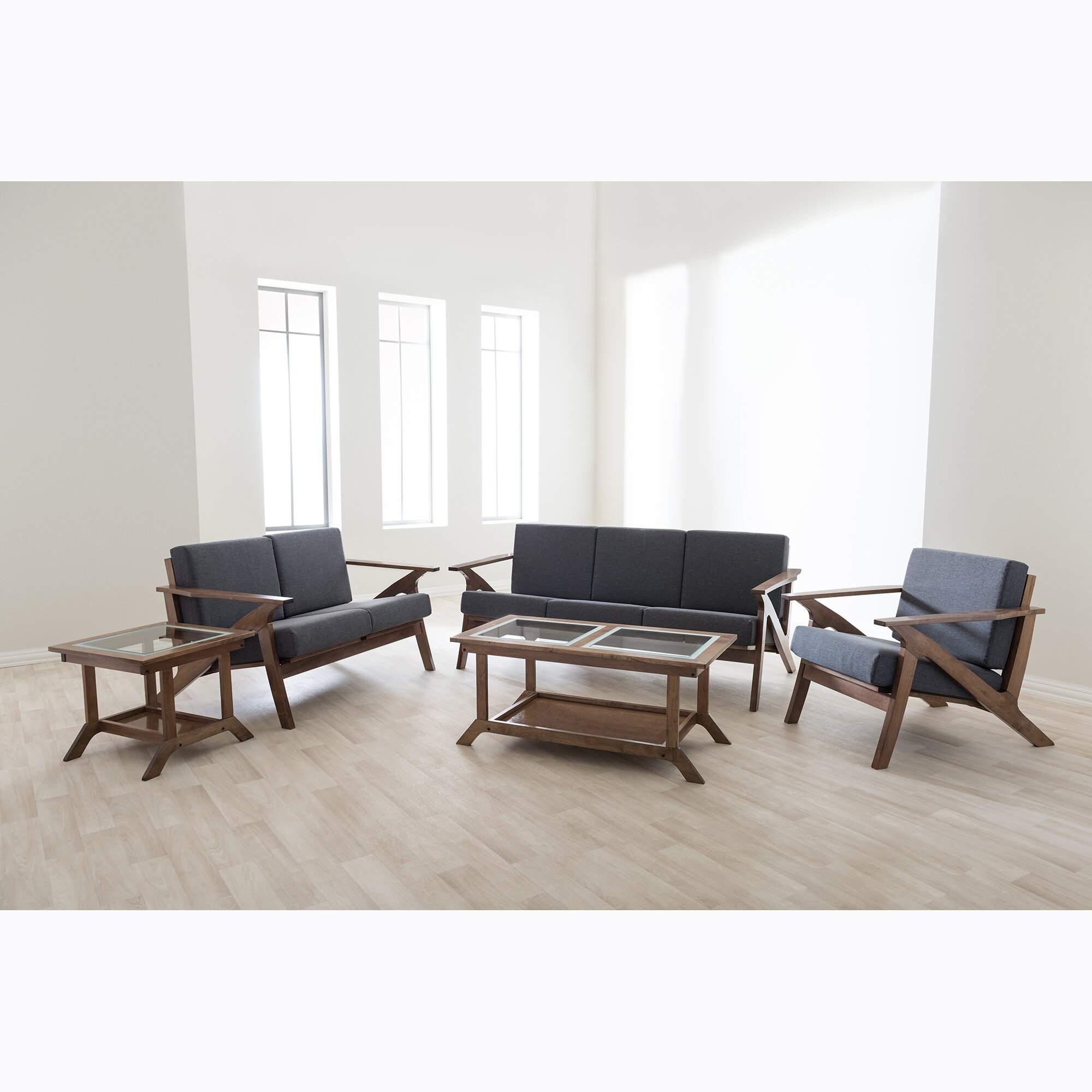Wholesale interiors baxton studio 5 piece living room set for 5 piece living room furniture