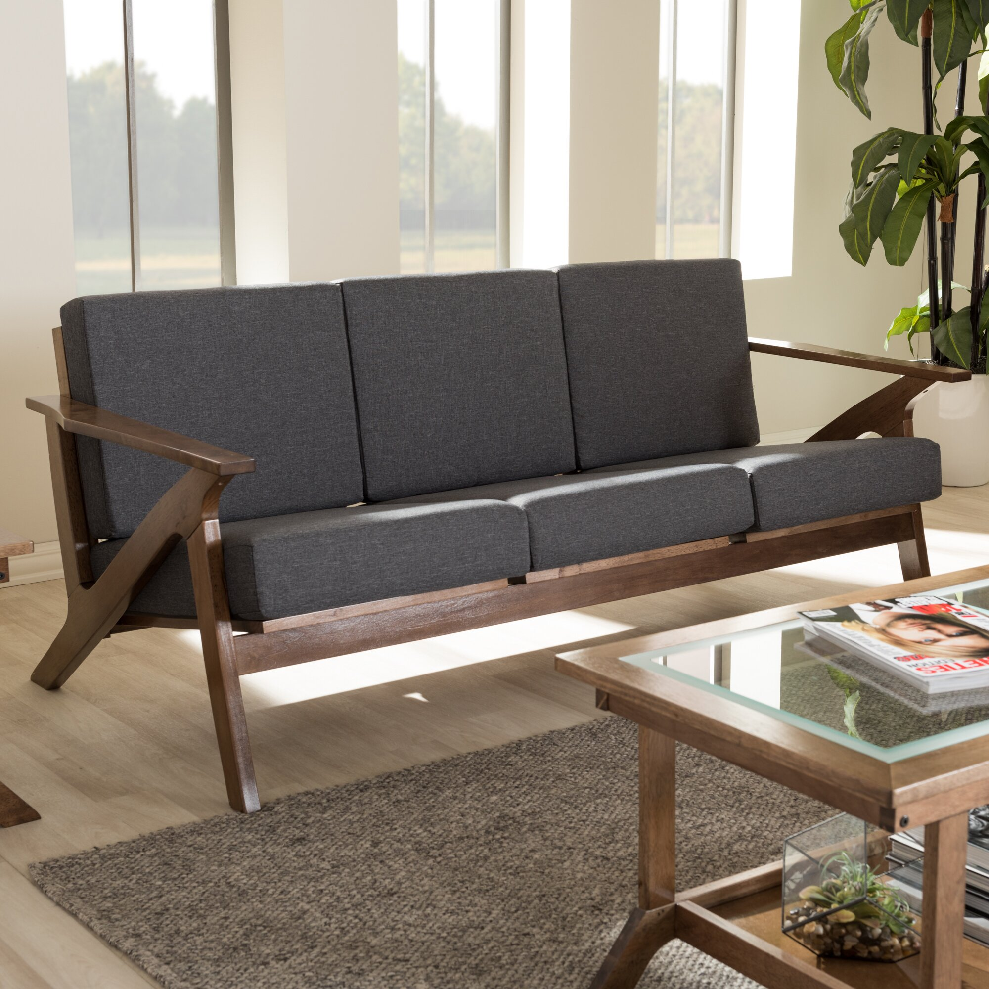 Wholesale interiors baxton studio mid century modern sofa for Baxton studio