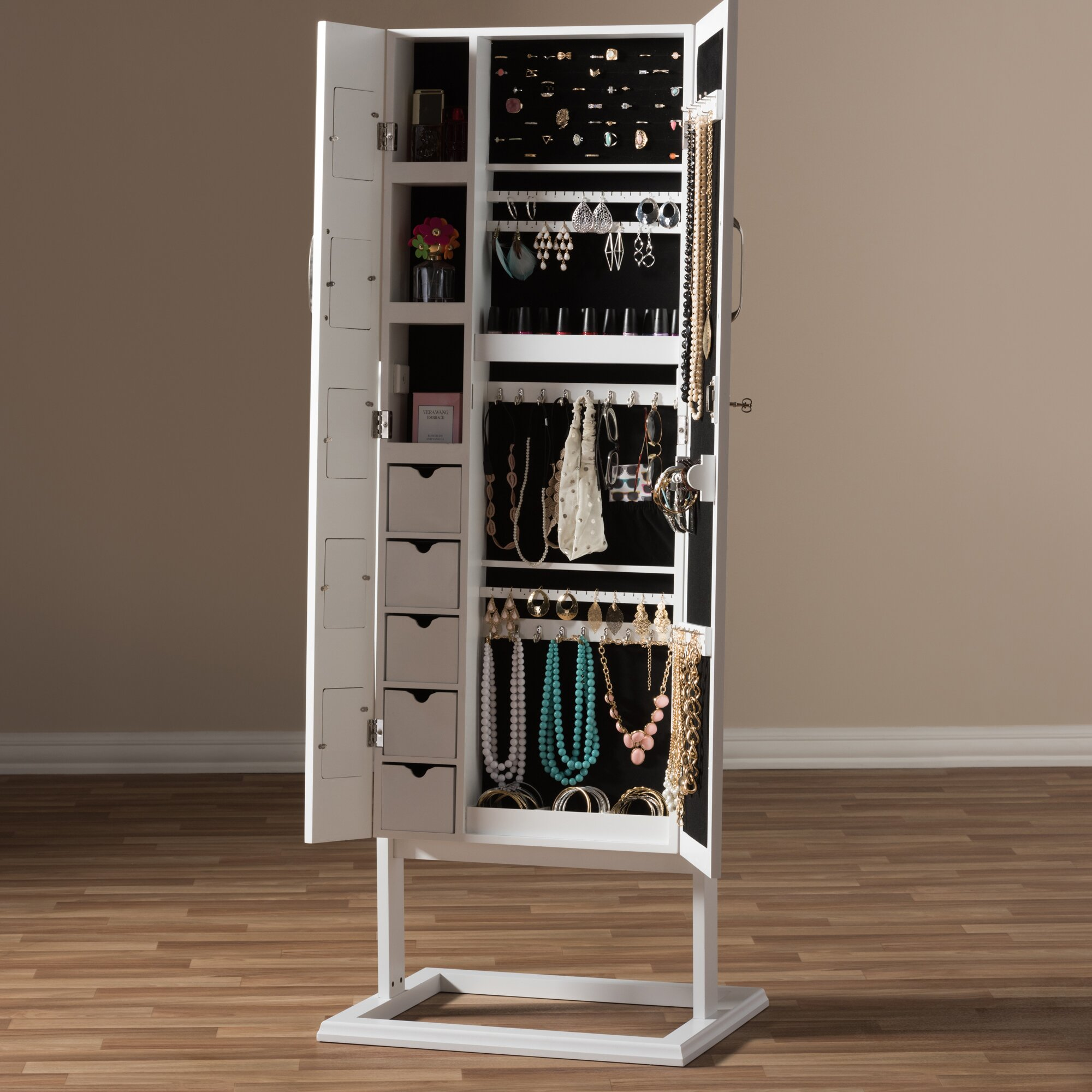 Floor Jewelry Armoire With Mirror 28 Images Hooker