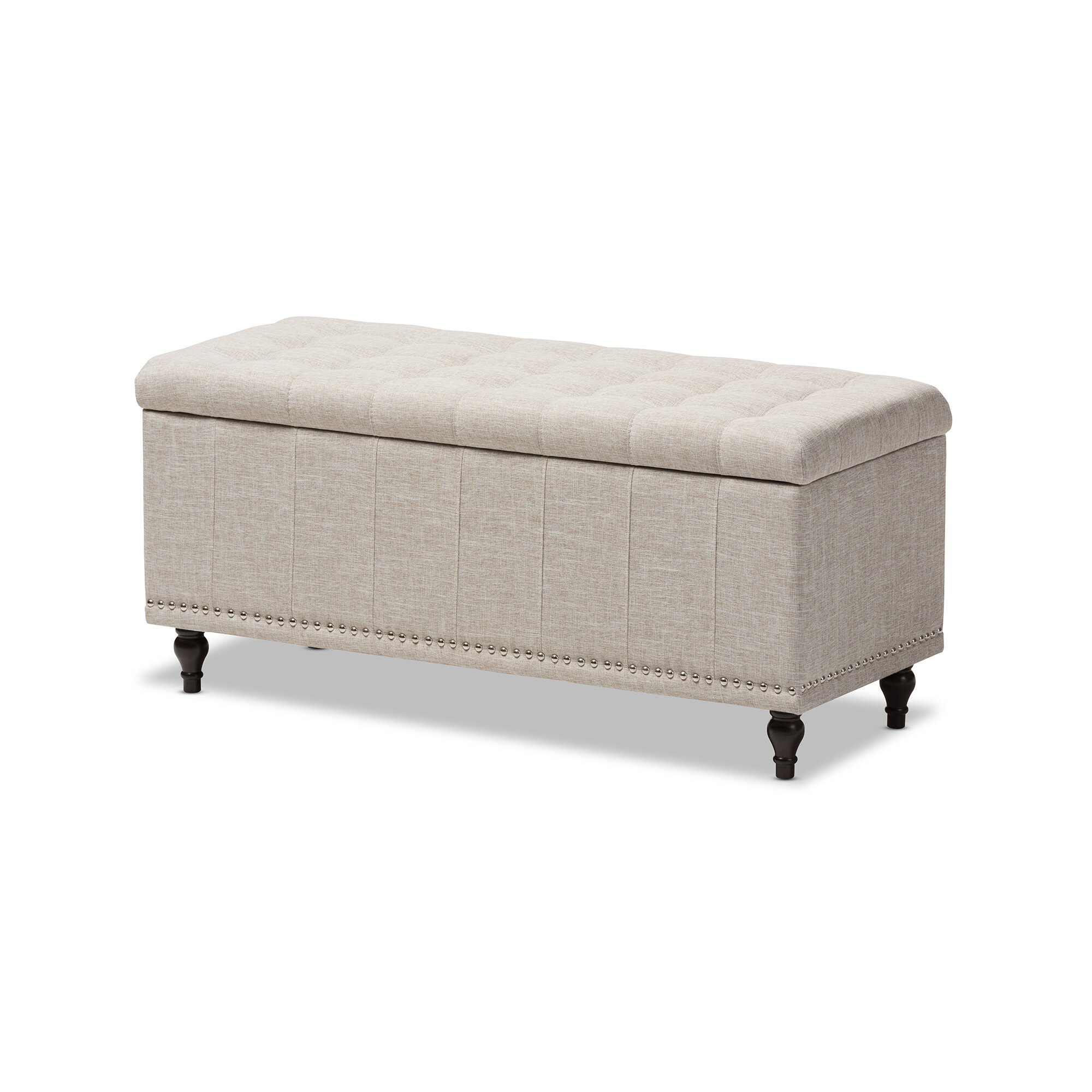 Wholesale interiors baxton studio luca upholstered storage for Bedroom upholstered bench