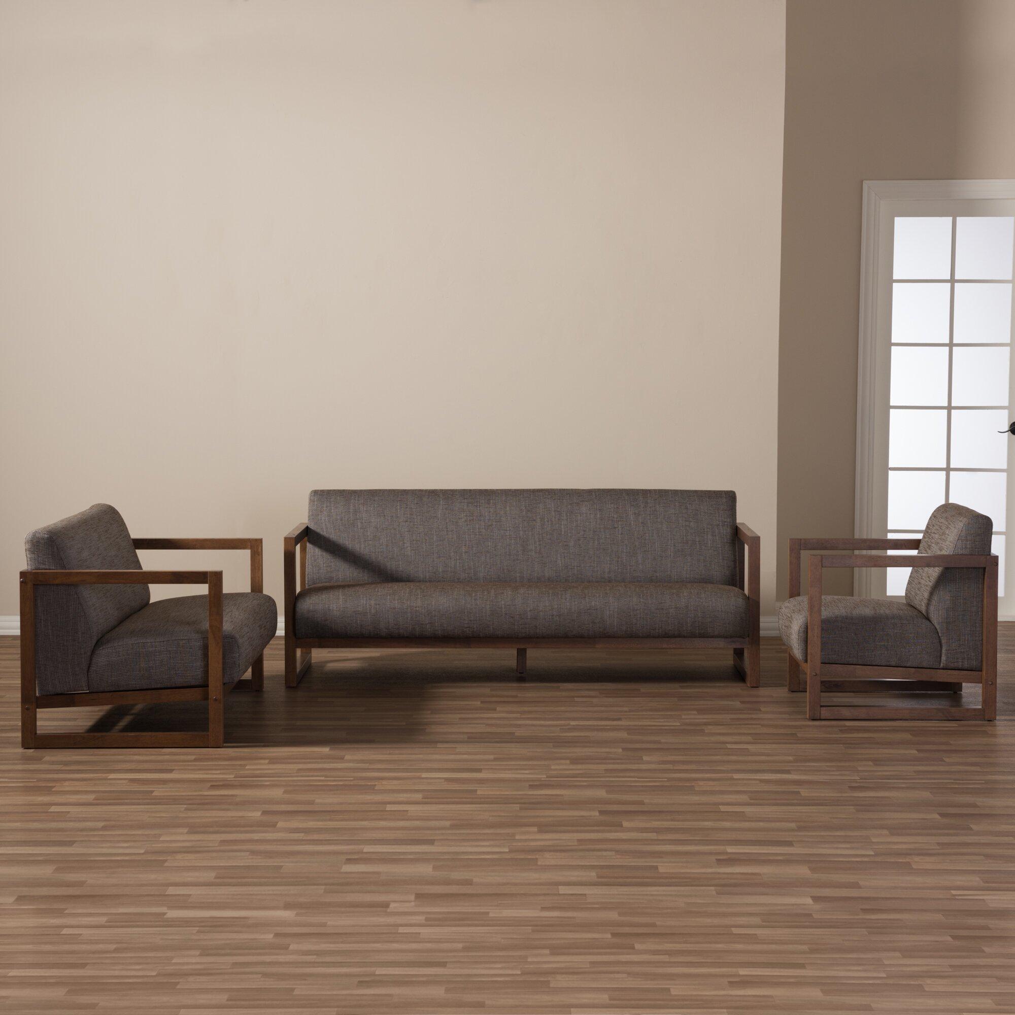Wholesale interiors baxton studio valencia mid century 3 for 3 piece living room set