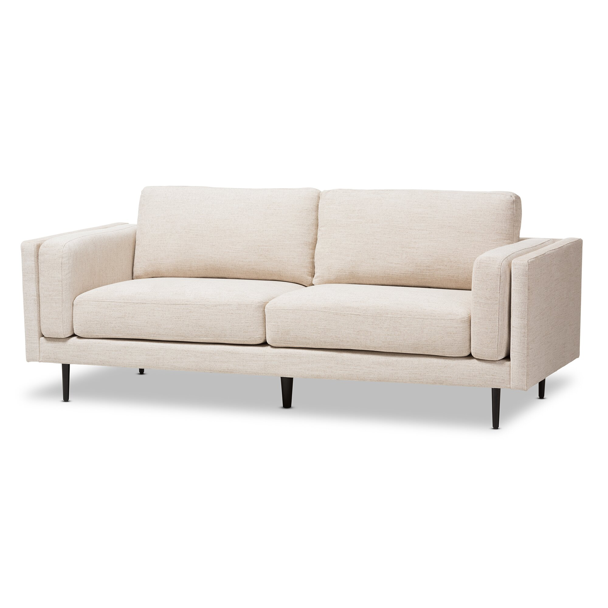 Wholesale interiors baxton studio brittany retro mid century sofa wayfair Retro loveseats