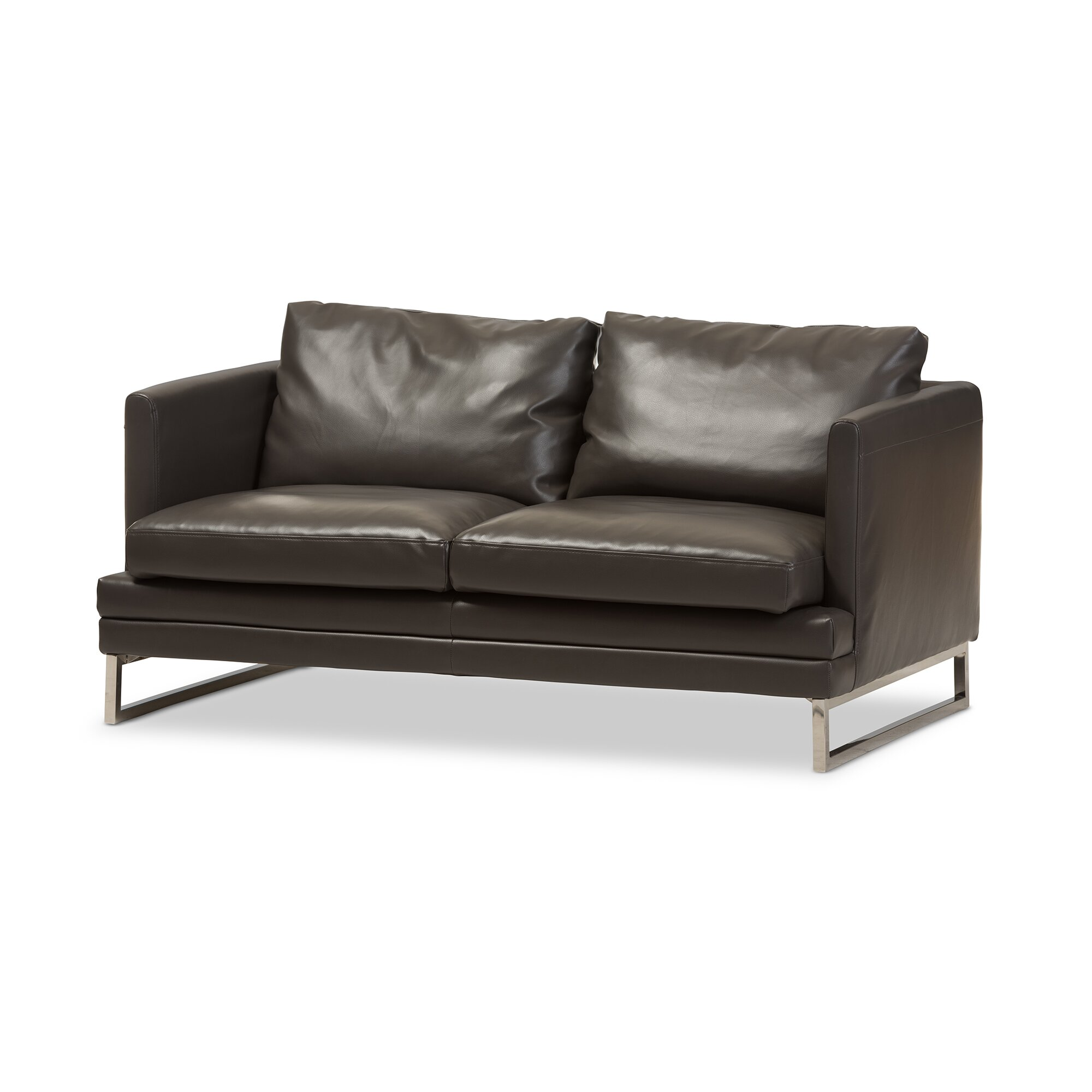Wholesale Interiors Baxton Studio Dakota Leather Loveseat Reviews Wayfair