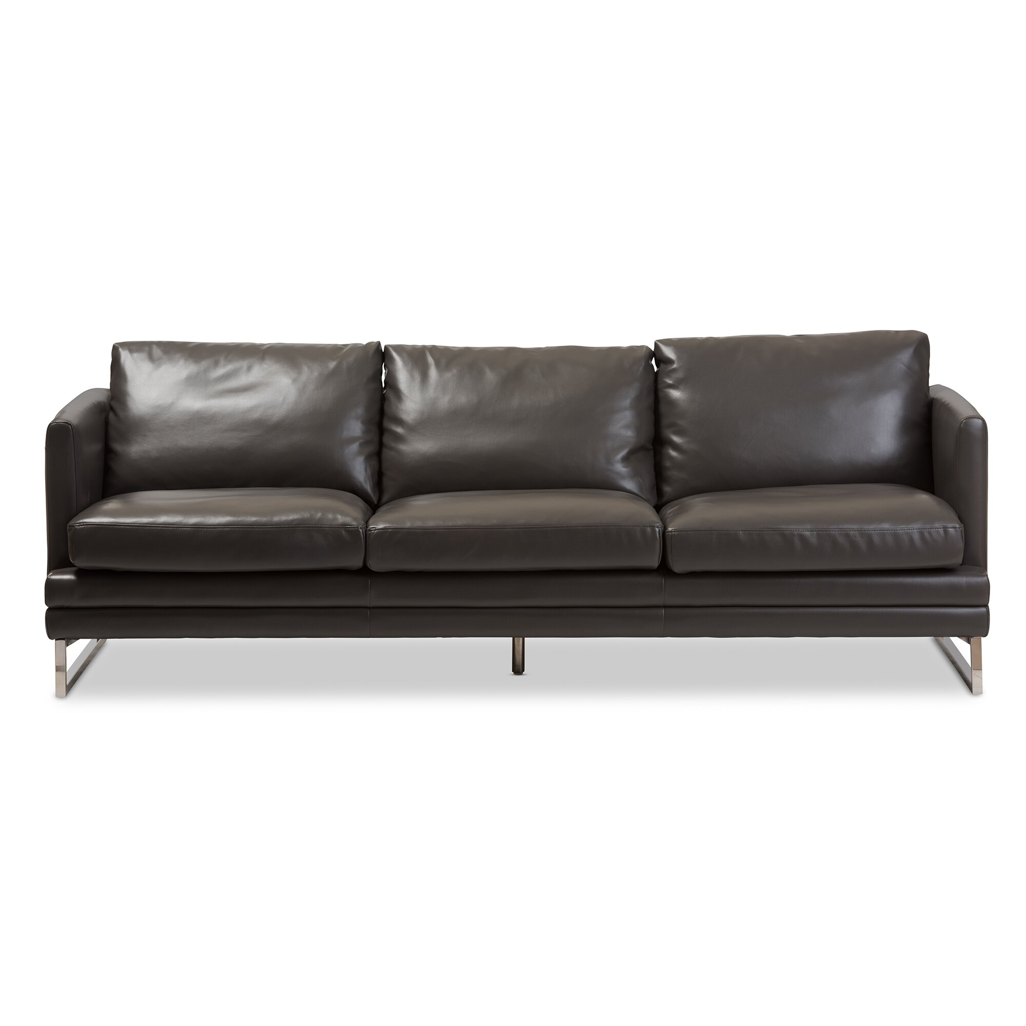 Wholesale Interiors Baxton Studio Dakota Leather Sofa Reviews Wayfair