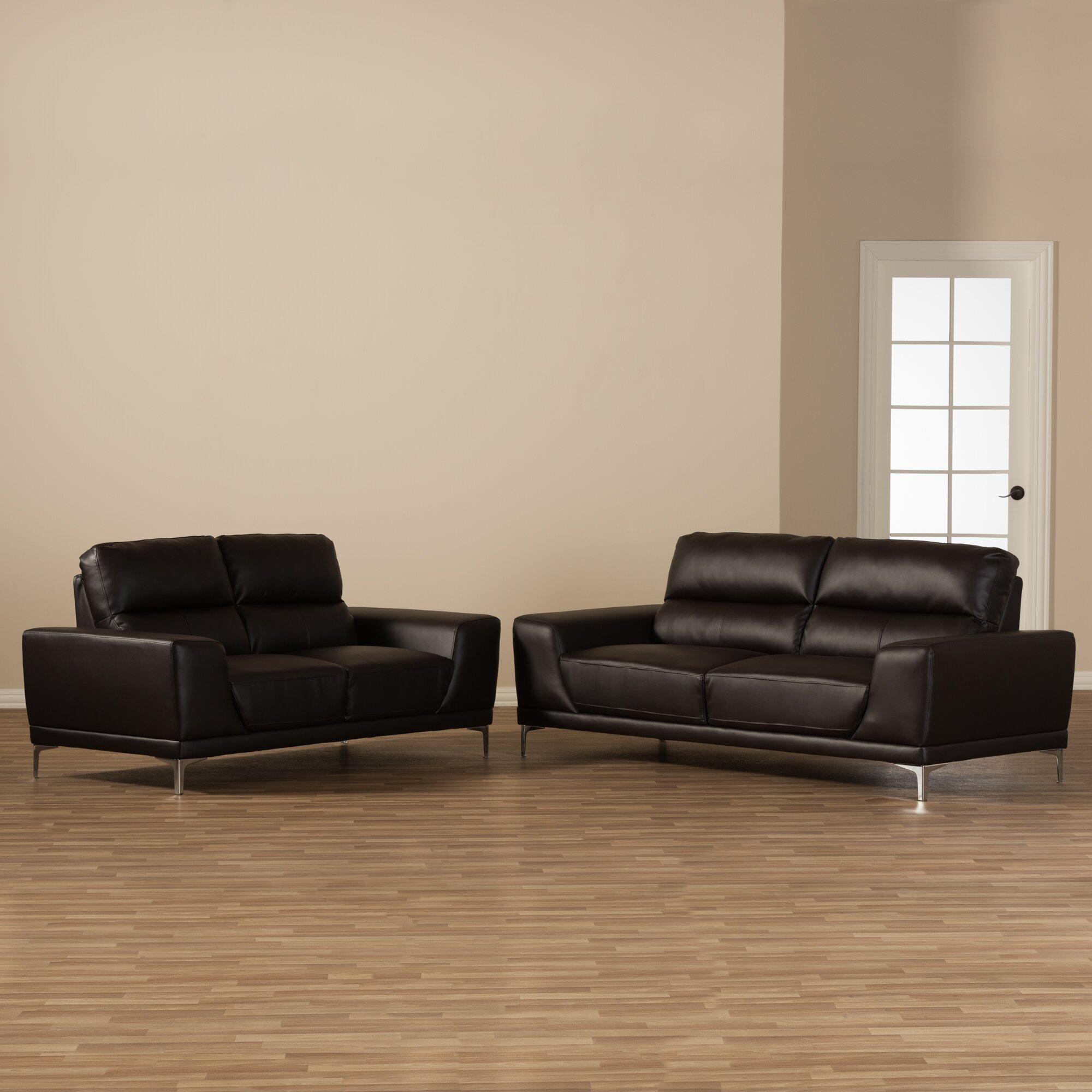 wholesale interiors baxton studio lambton 2 piece living