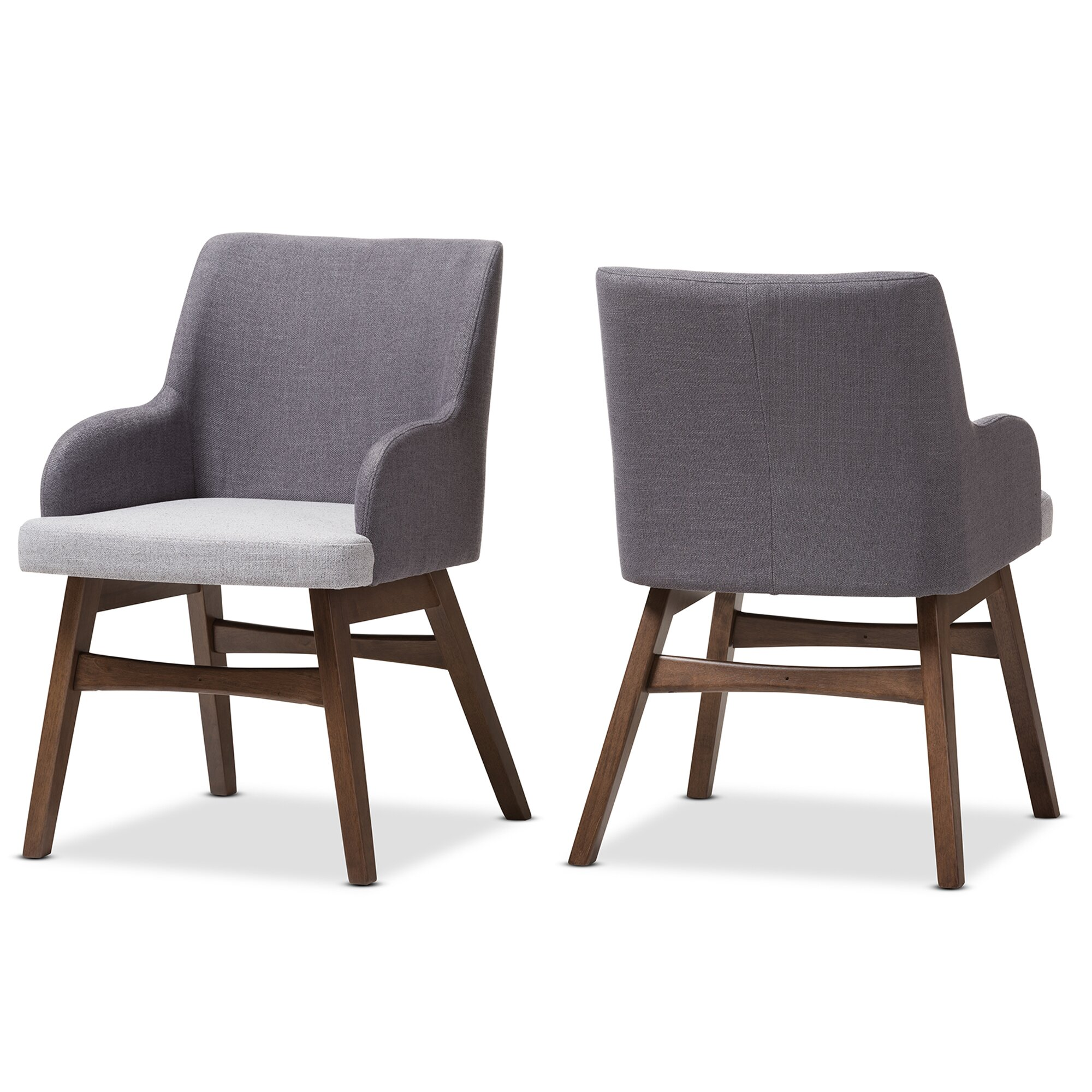 Wholesale interiors baxton studio mona mid century modern for Modern fabric dining room chairs
