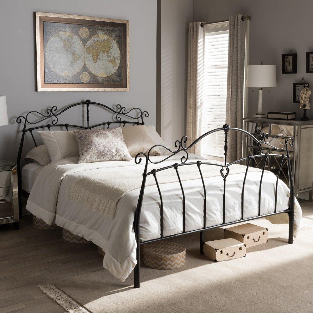 Wholesale interiors baxton studio selena platform bed for Baxton studio