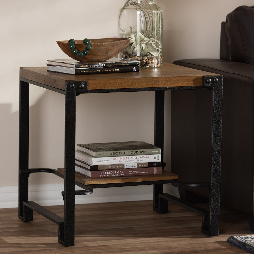 wholesale interiors baxton studio gibson end table