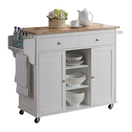 Baxton Studio Meryland Modern Kitchen Island