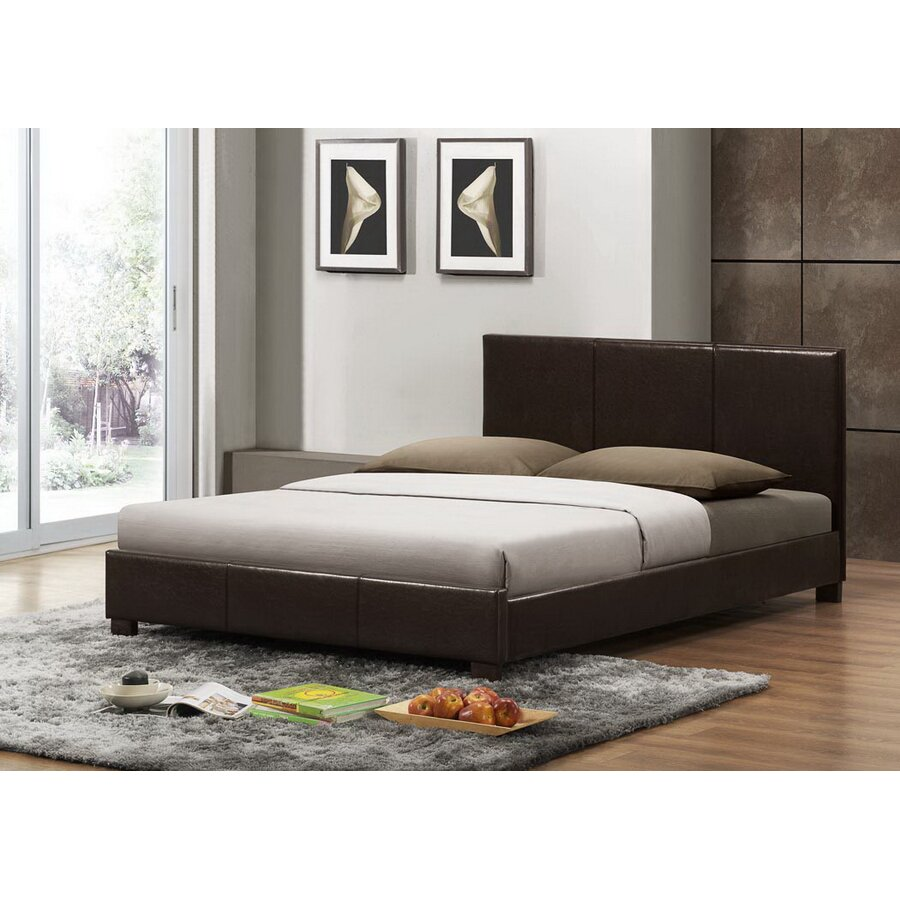 interiors baxton studio upholstered platform bed reviews wayfair