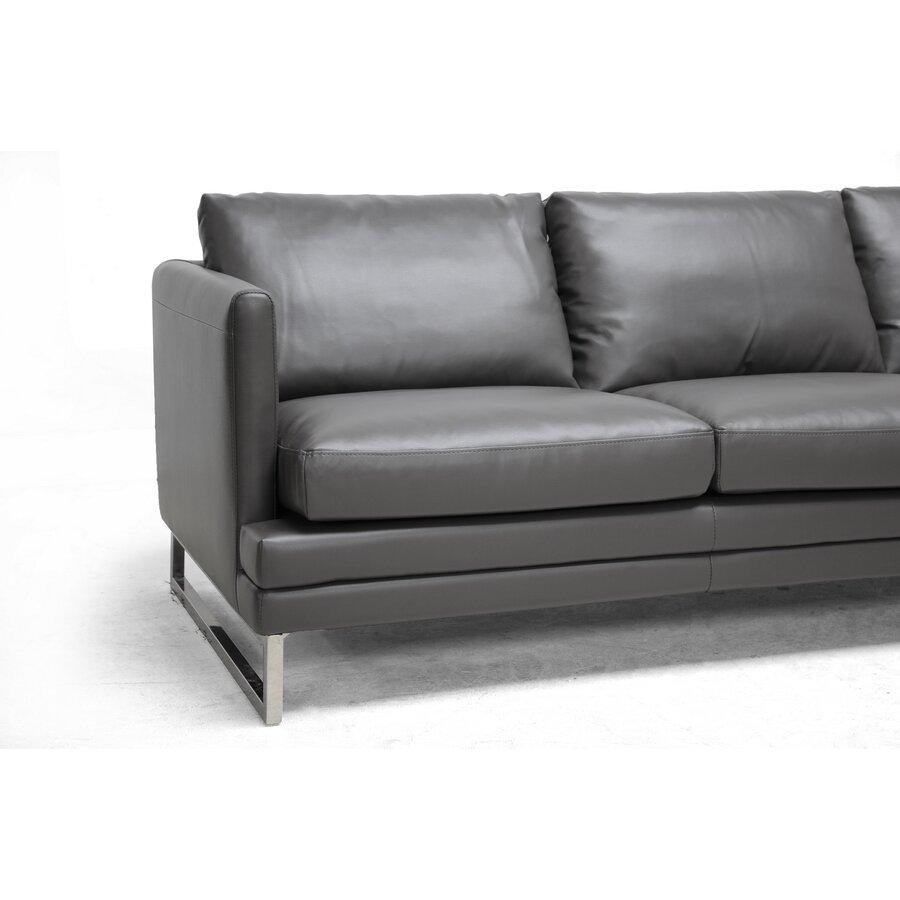 Wholesale Interiors Baxton Studio Dakota Leather Sofa ...