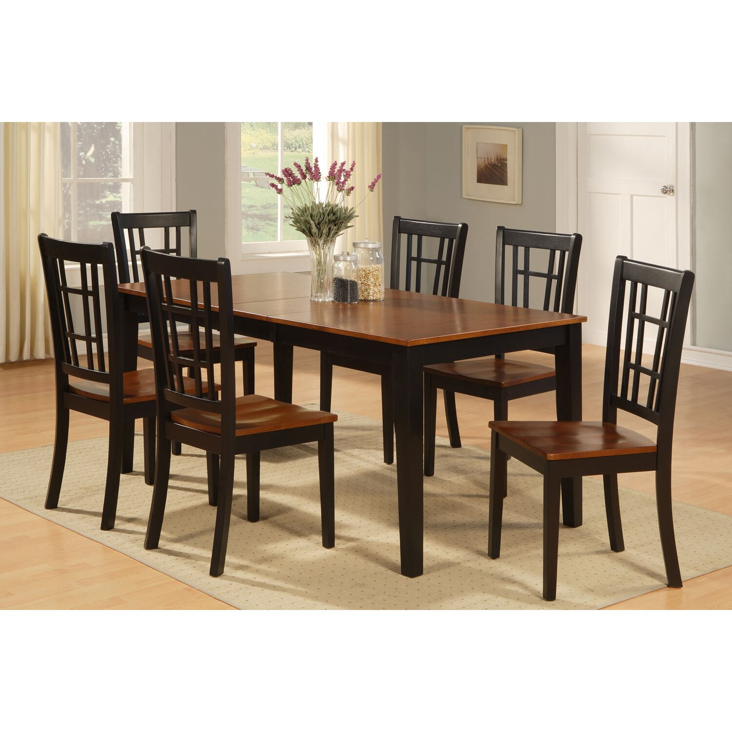 East west nicoli 7 piece dining set reviews wayfair for Furniture 7 credit reviews