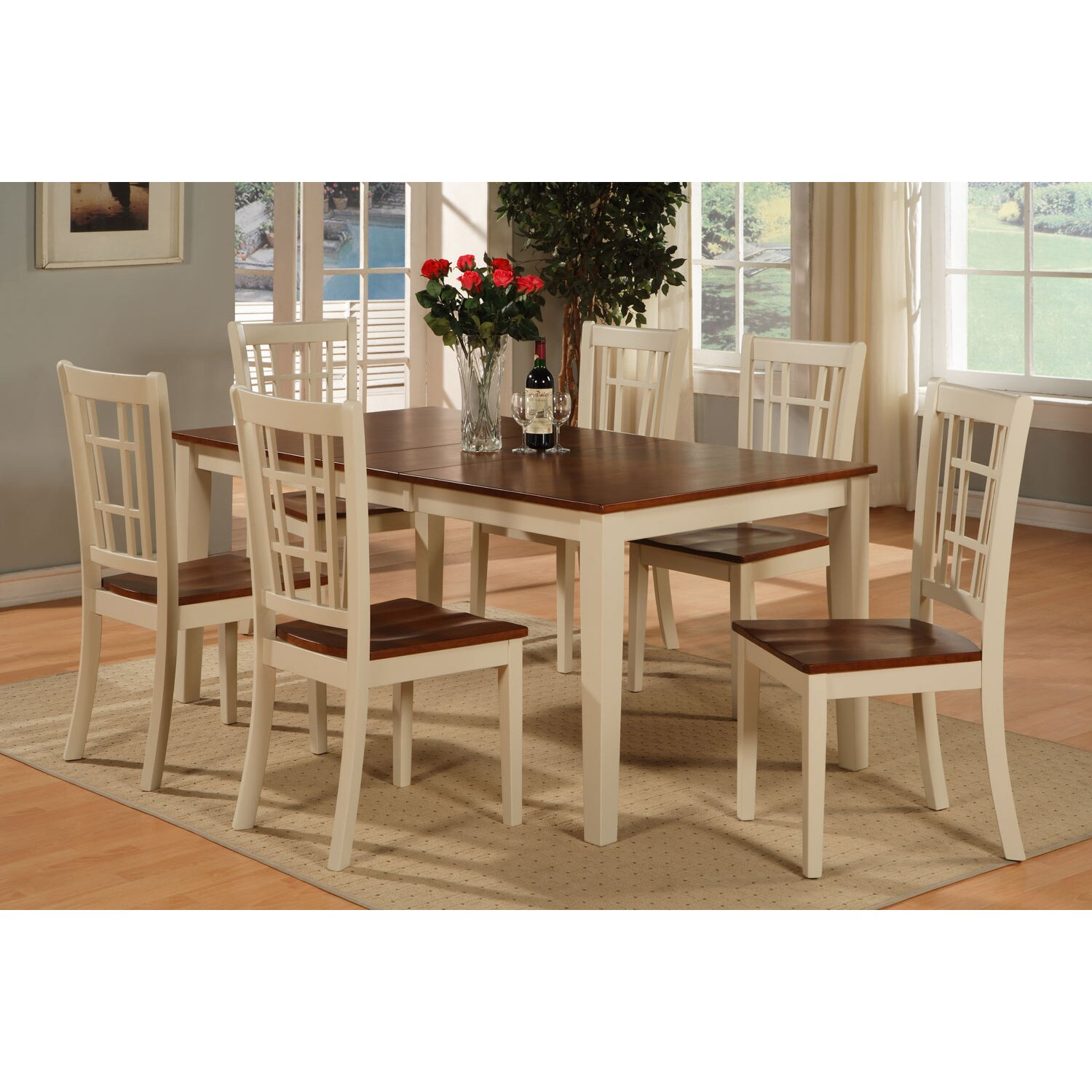 East west nicoli 7 piece dining set reviews wayfair for 7 piece dining set