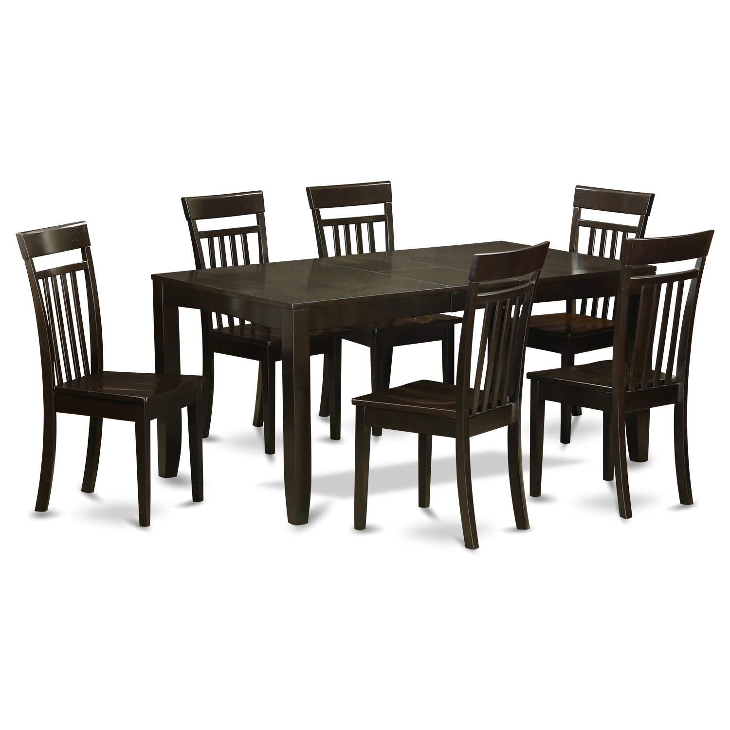 East west lynfield 7 piece dining set wayfair for 7 pc dining room set