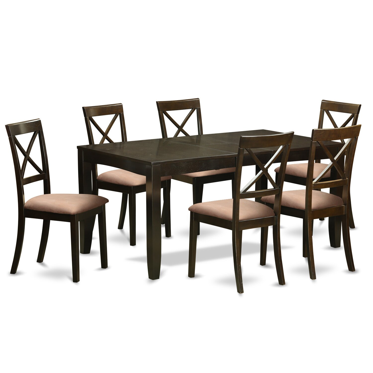 East west lynfield 7 piece dining set reviews wayfair for Kitchen table set 6 chairs