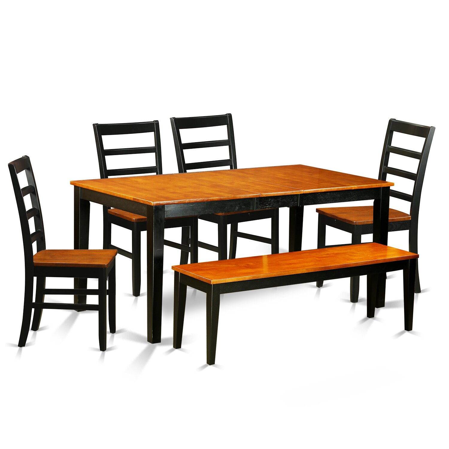 East west nicoli 6 piece dining set wayfair for Dining room sets 6 piece