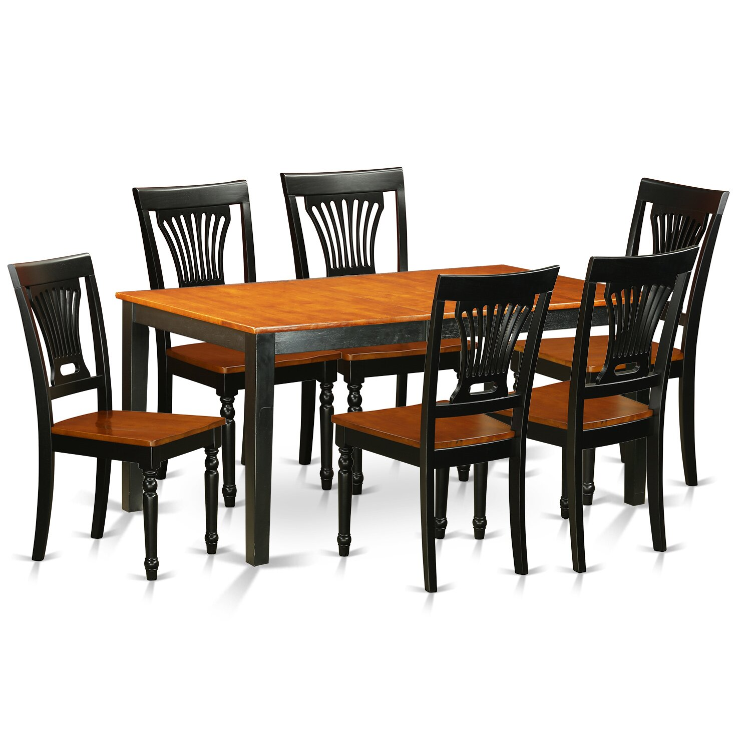 East west nicoli 7 piece dining set wayfair for Kitchen table set 6 chairs