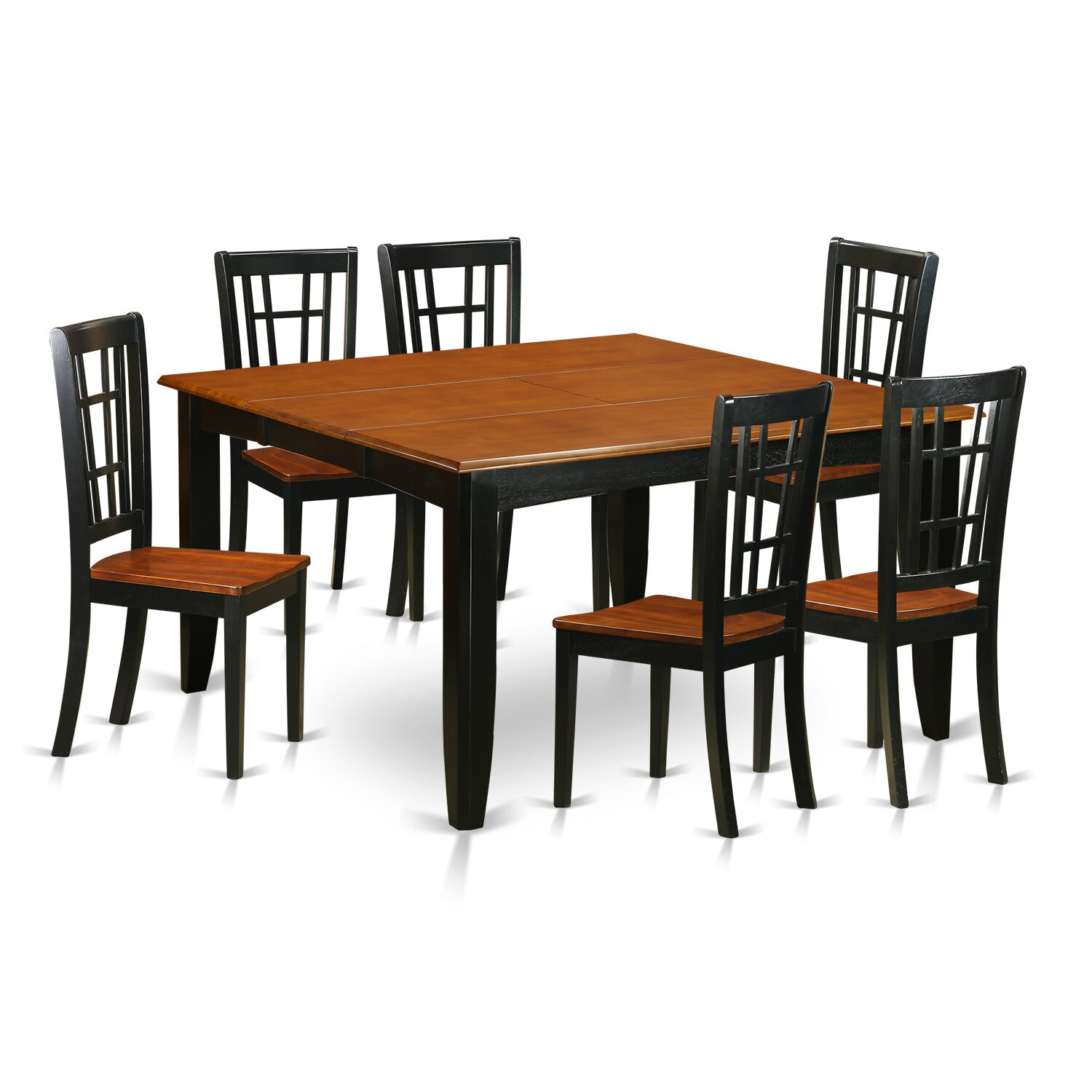 East west parfait 7 piece dining set wayfair - Pc dining room set ...