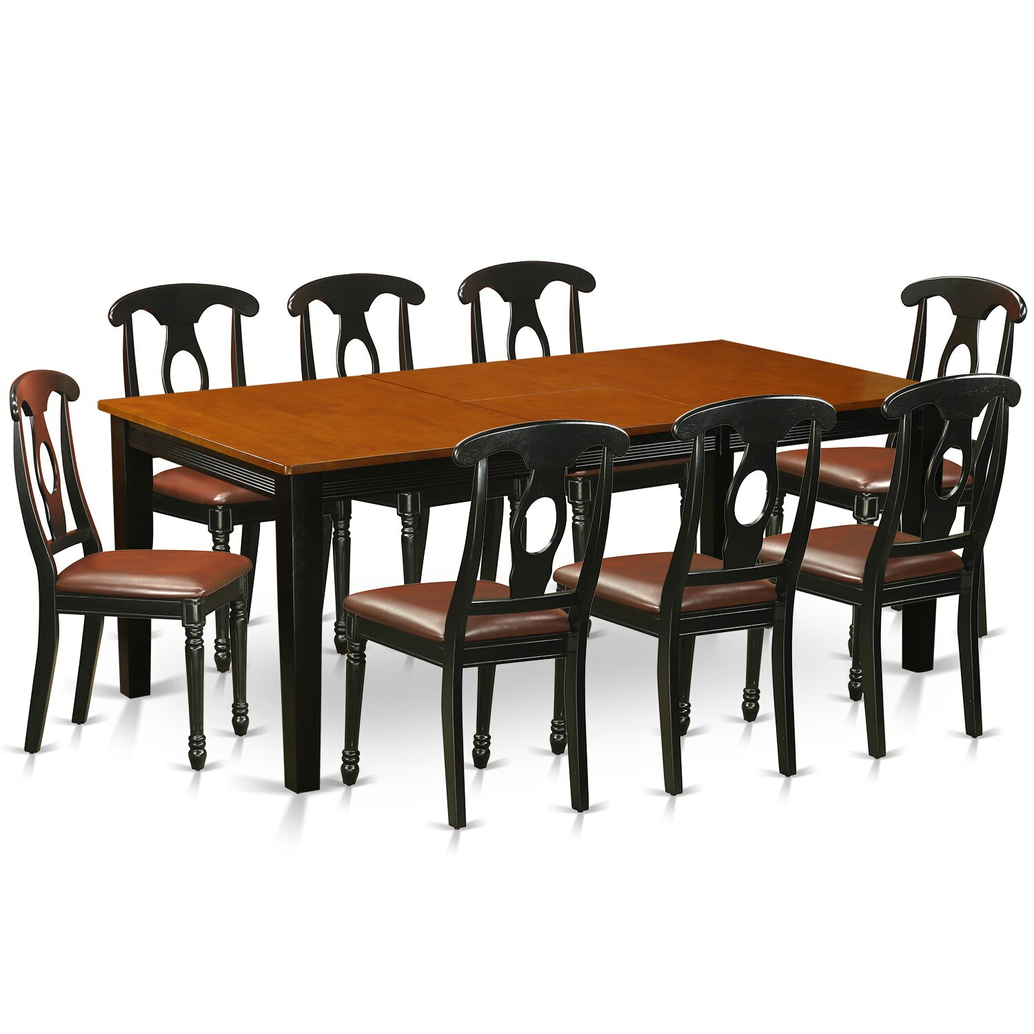 Pc coffee table set solid wood cherry side end tables living room
