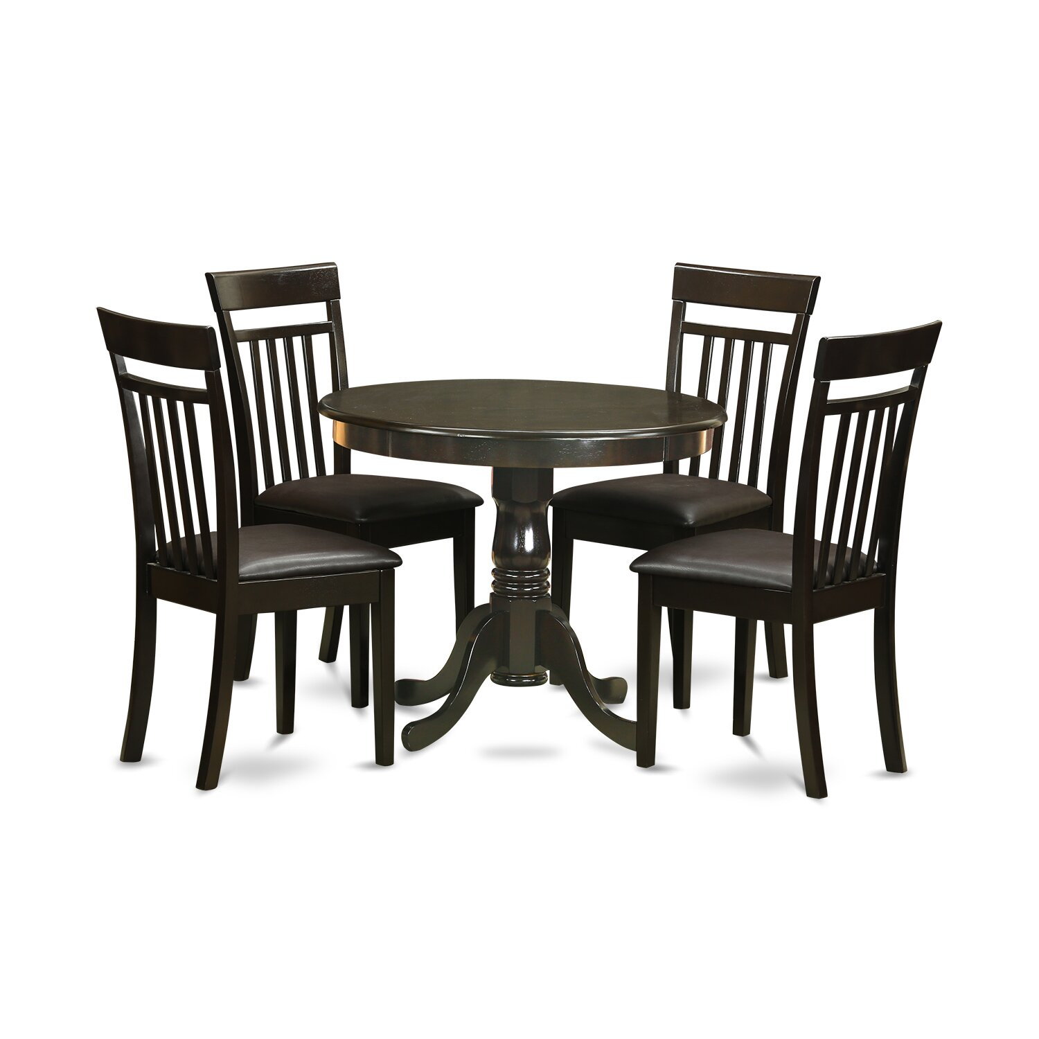 East west 5 piece dining set reviews wayfair for 5 chair dining table