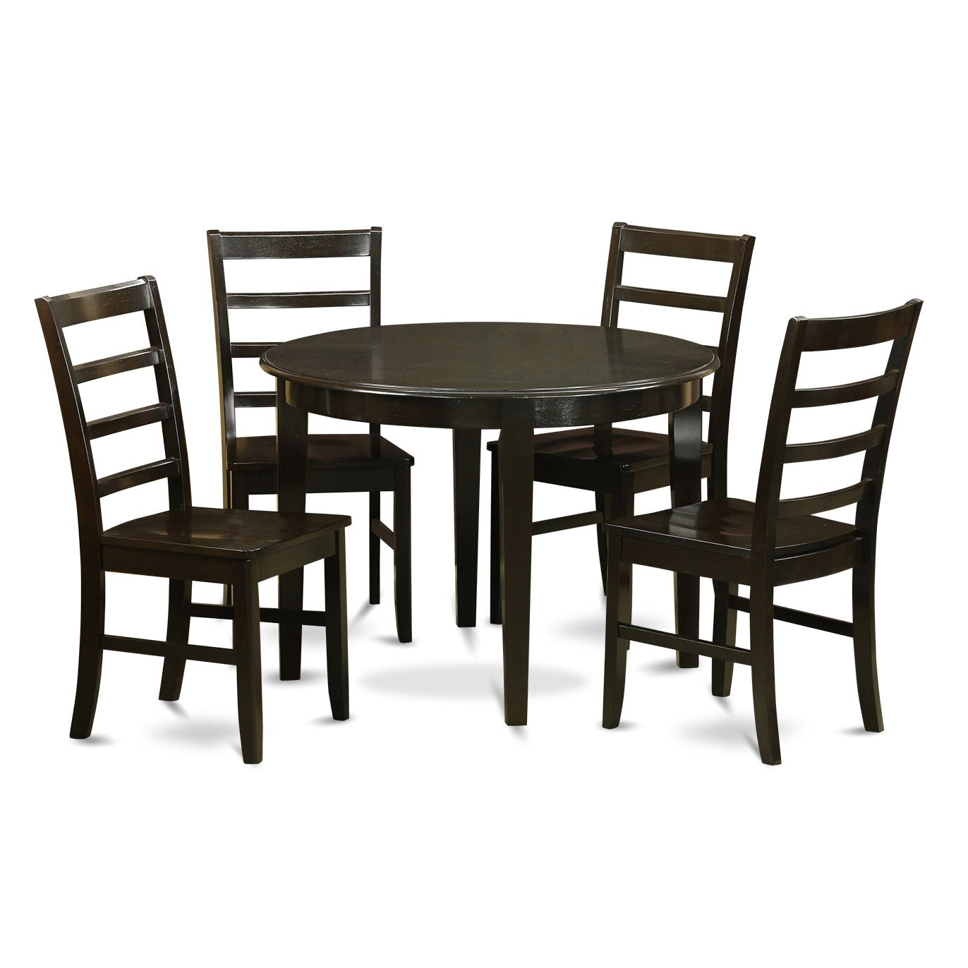 East west boston 5 piece dining set wayfair for Small table and 4 chair set