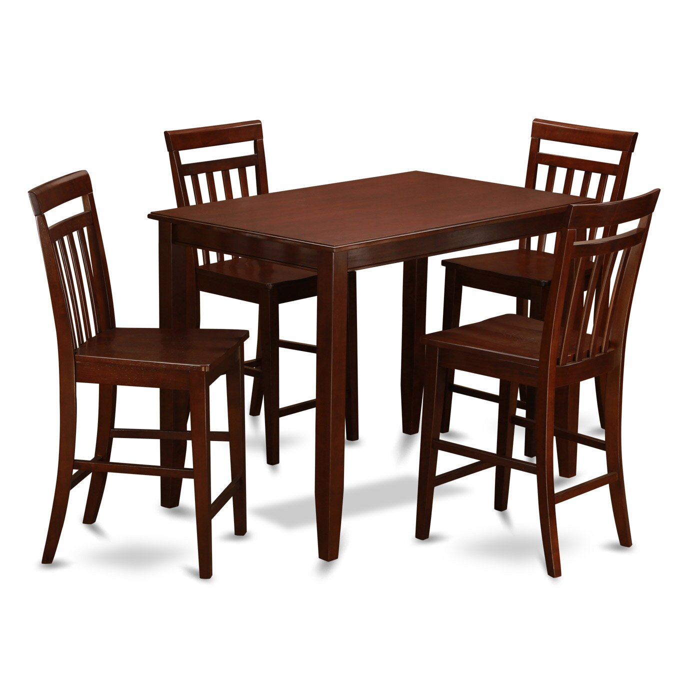East west buckland 5 piece counter height dining set Counter seating