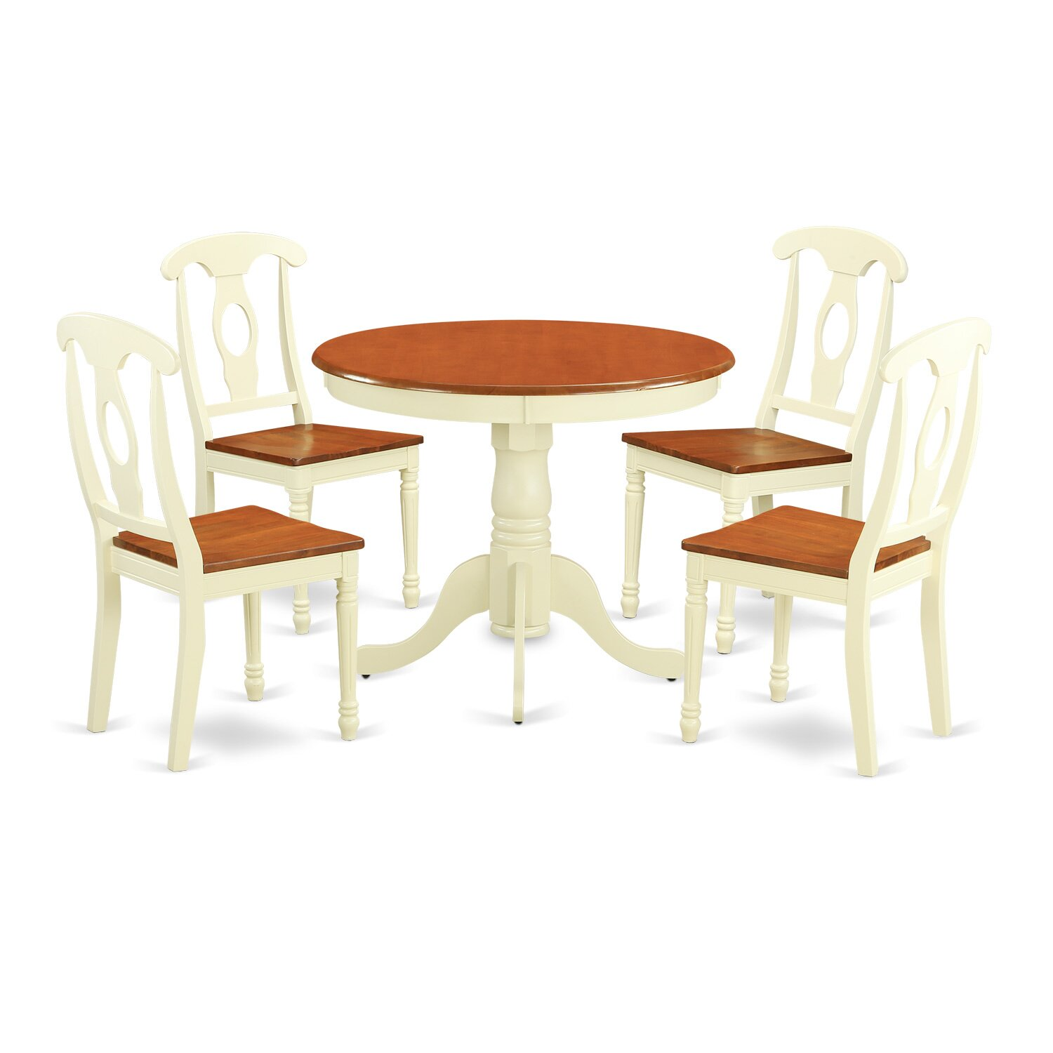 East west 5 piece dining set wayfair for Kitchen dining table chairs