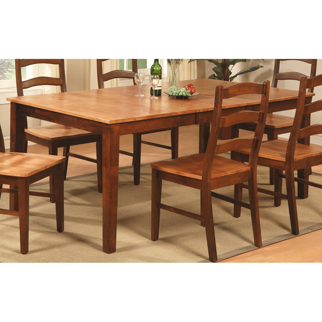 East west henley 9 piece dining set reviews wayfair for Dining room furniture 9 piece