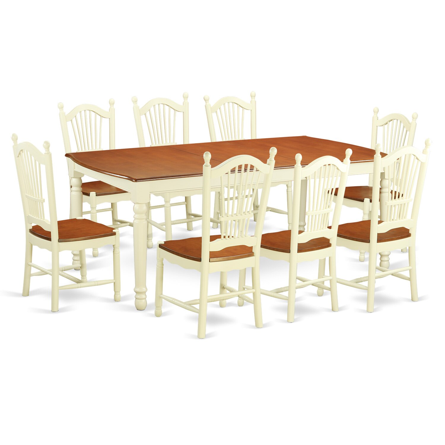 East west dover 9 piece dining set wayfair for Kitchen dinette sets