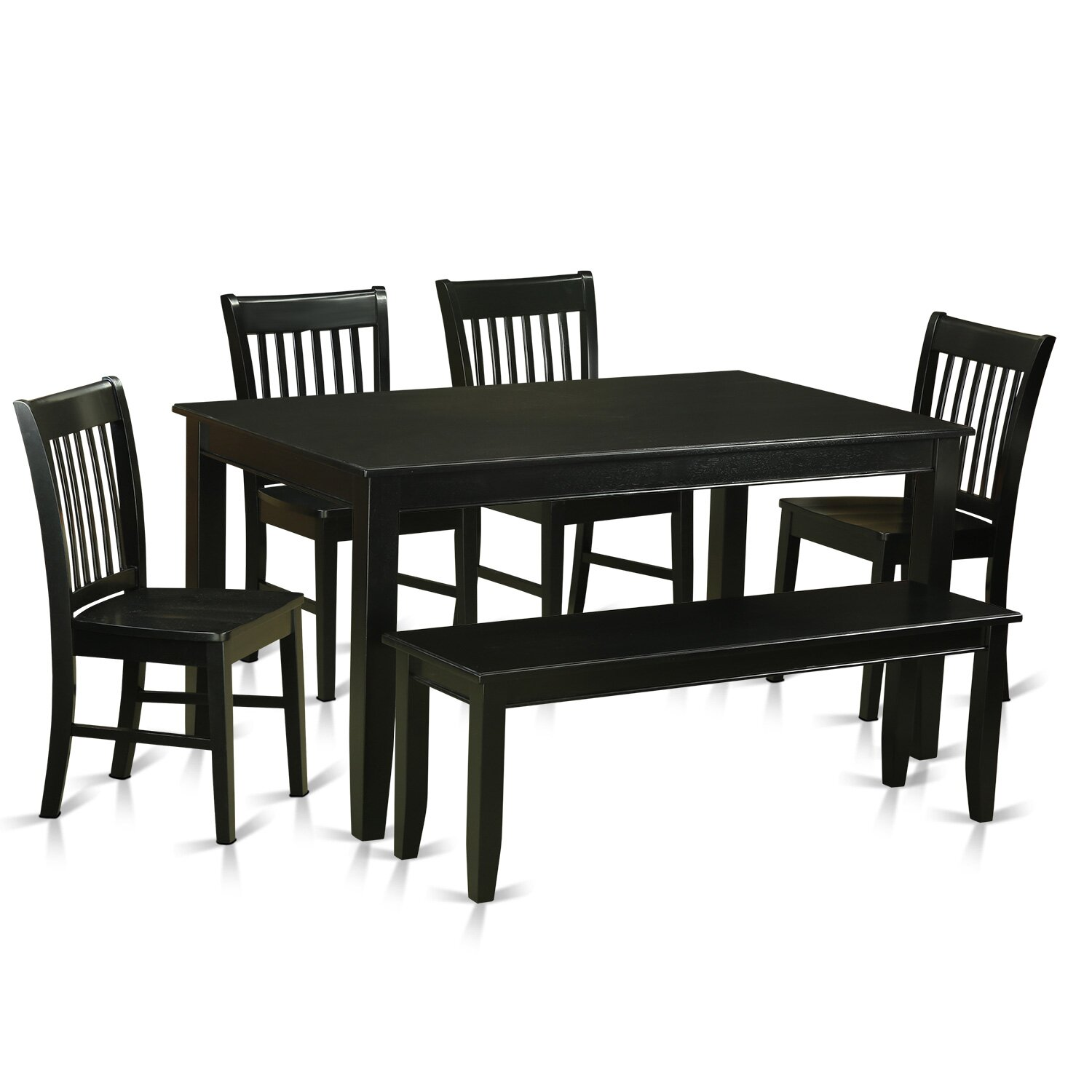 East west dudley 6 piece dining set wayfair for Dining room table for 6