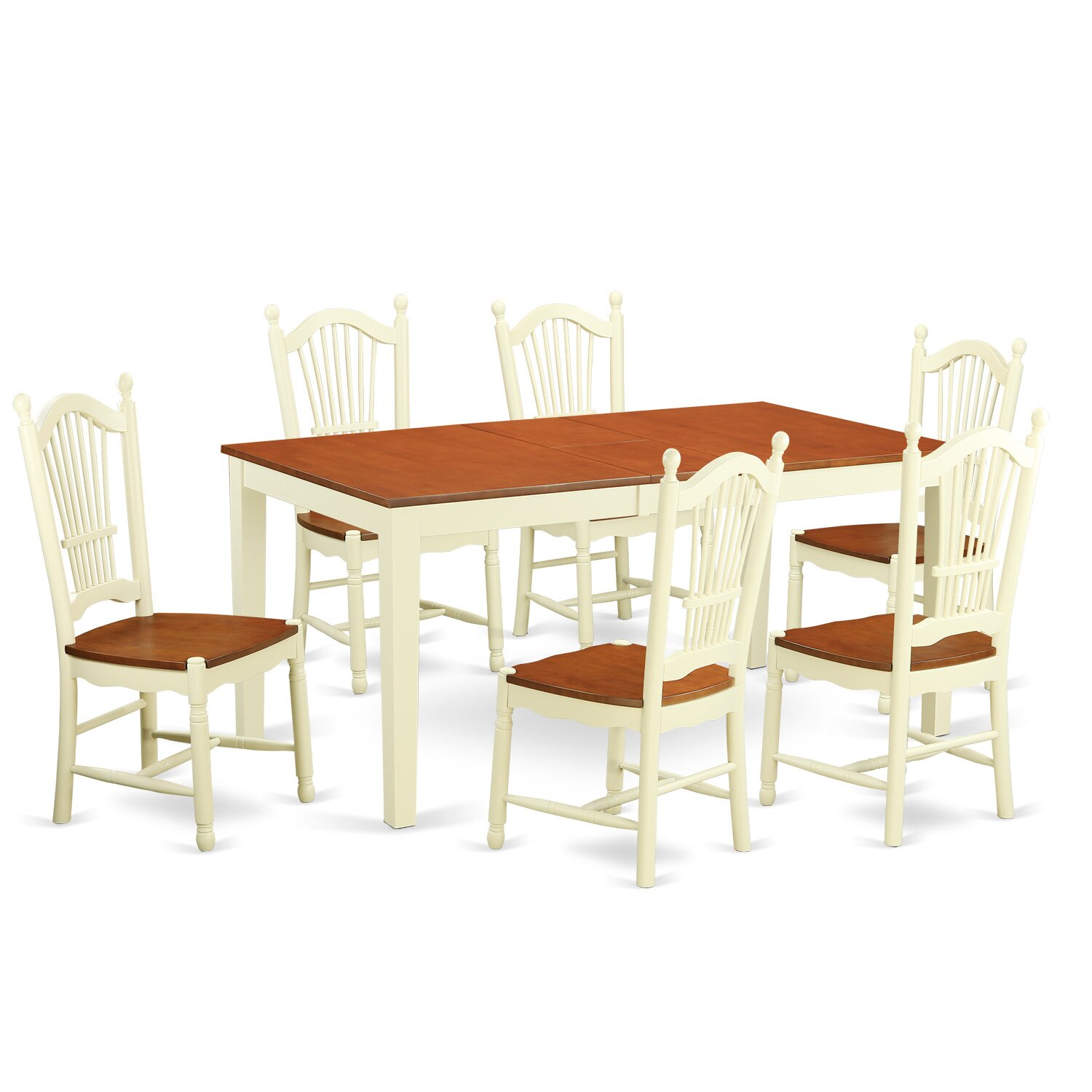 East west nicoli 7 piece dining set wayfair for Kitchen table set 7 piece