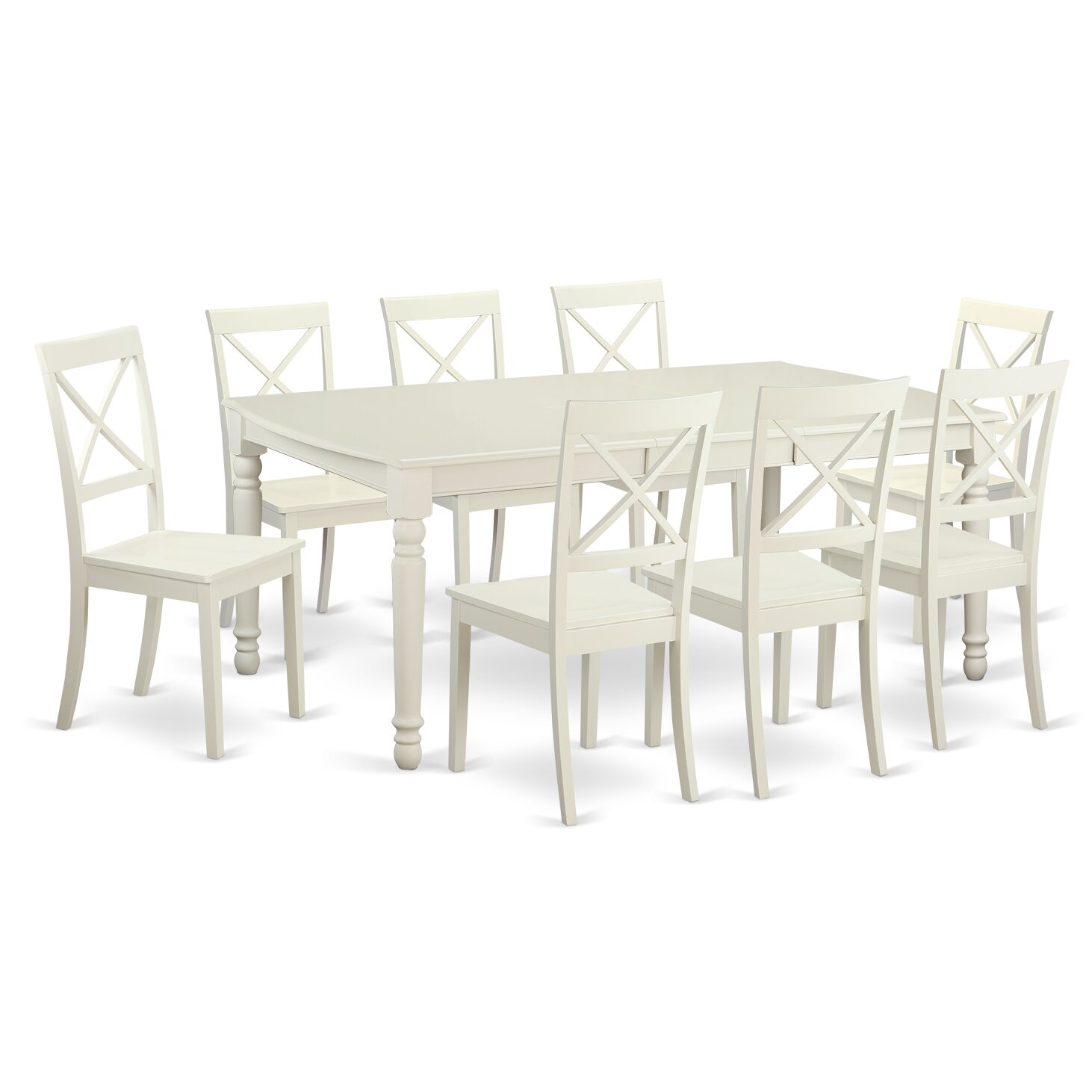 East west dover 9 piece dining set reviews wayfair for Dining room furniture 9 piece